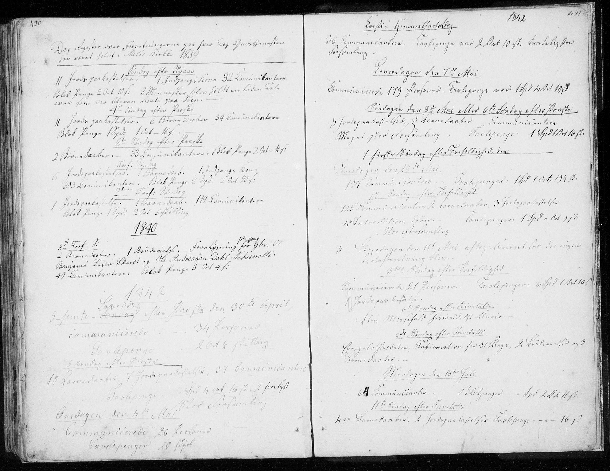 SAT, Ministerialprotokoller, klokkerbøker og fødselsregistre - Nordland, 843/L0632: Parish register (copy) no. 843C01, 1833-1853, p. 430-431