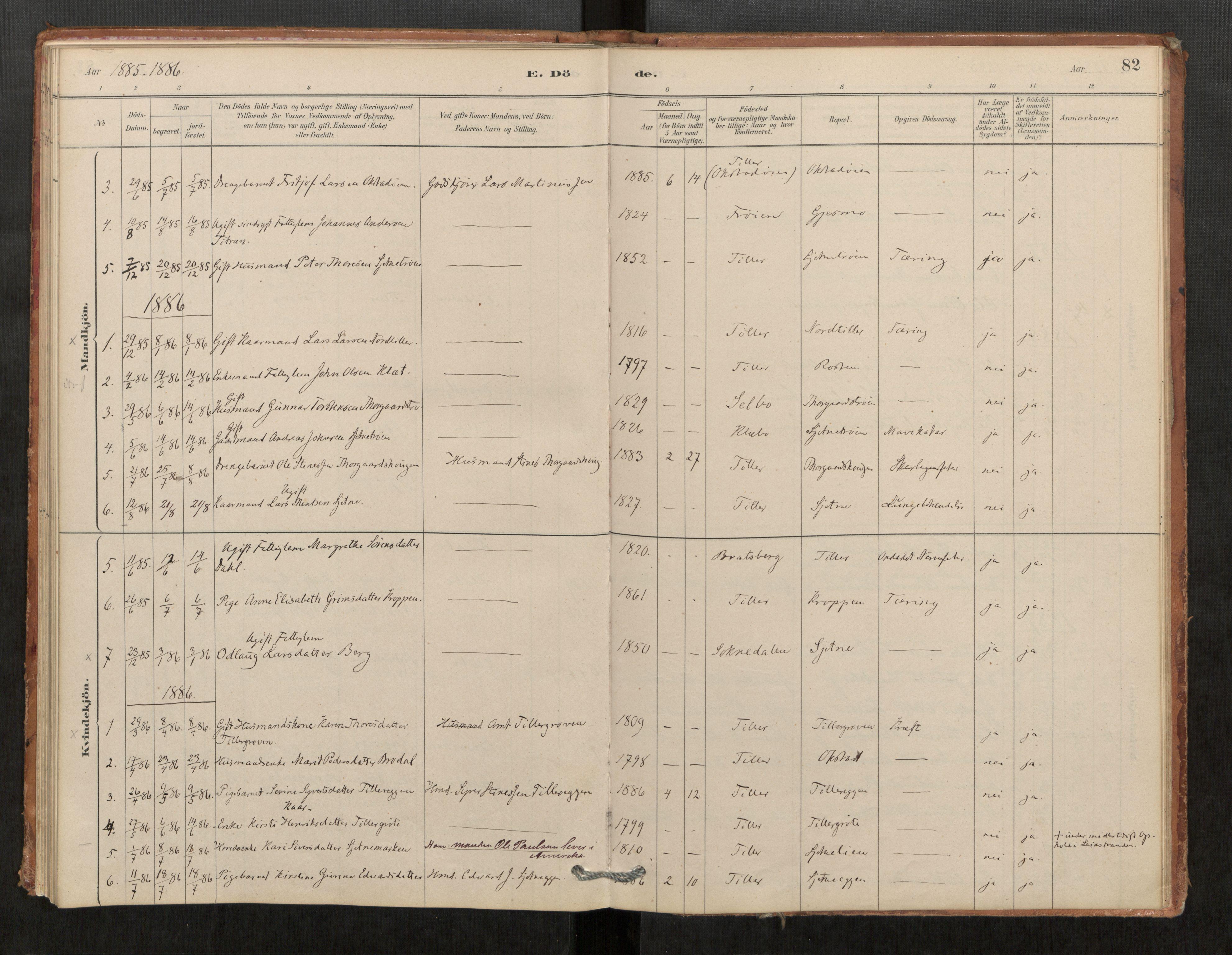 SAT, Klæbu sokneprestkontor, Parish register (official) no. 1, 1880-1900, p. 82