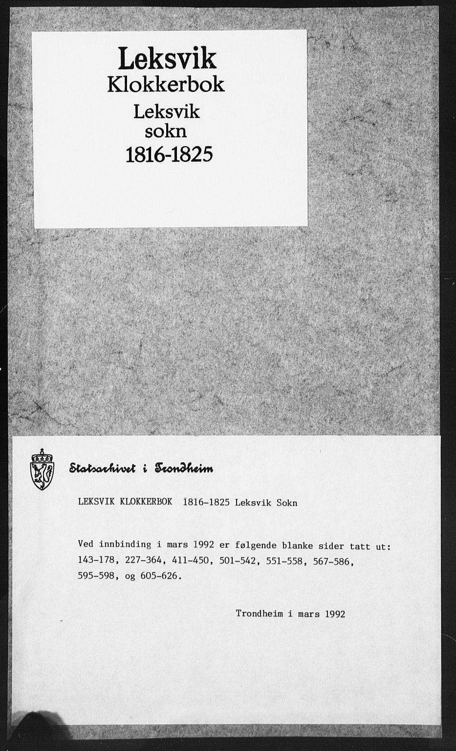 SAT, Ministerialprotokoller, klokkerbøker og fødselsregistre - Nord-Trøndelag, 701/L0017: Parish register (copy) no. 701C01, 1817-1825