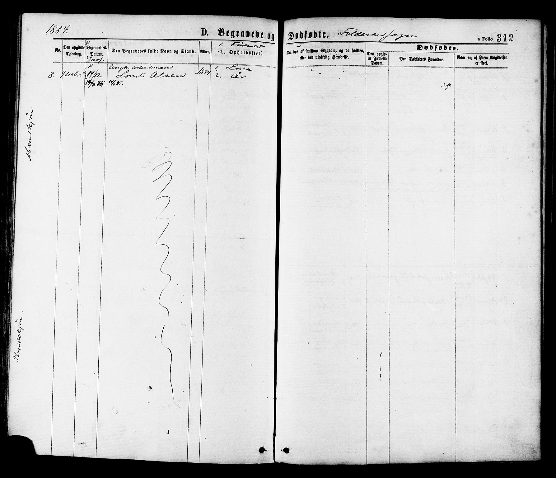 SAT, Ministerialprotokoller, klokkerbøker og fødselsregistre - Nord-Trøndelag, 780/L0642: Parish register (official) no. 780A07 /2, 1878-1885, p. 312