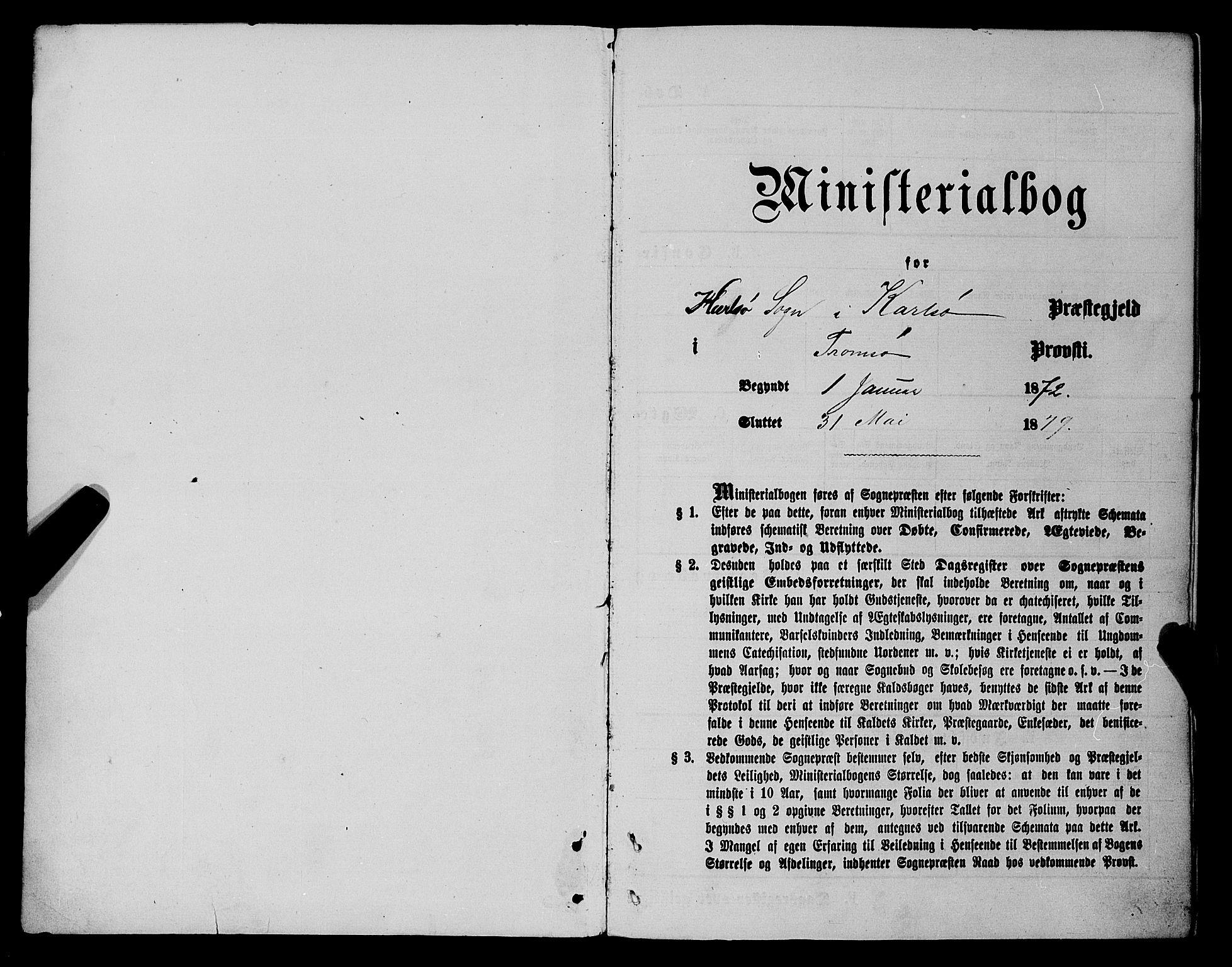 SATØ, Karlsøy sokneprestembete, Parish register (official) no. 5, 1872-1878