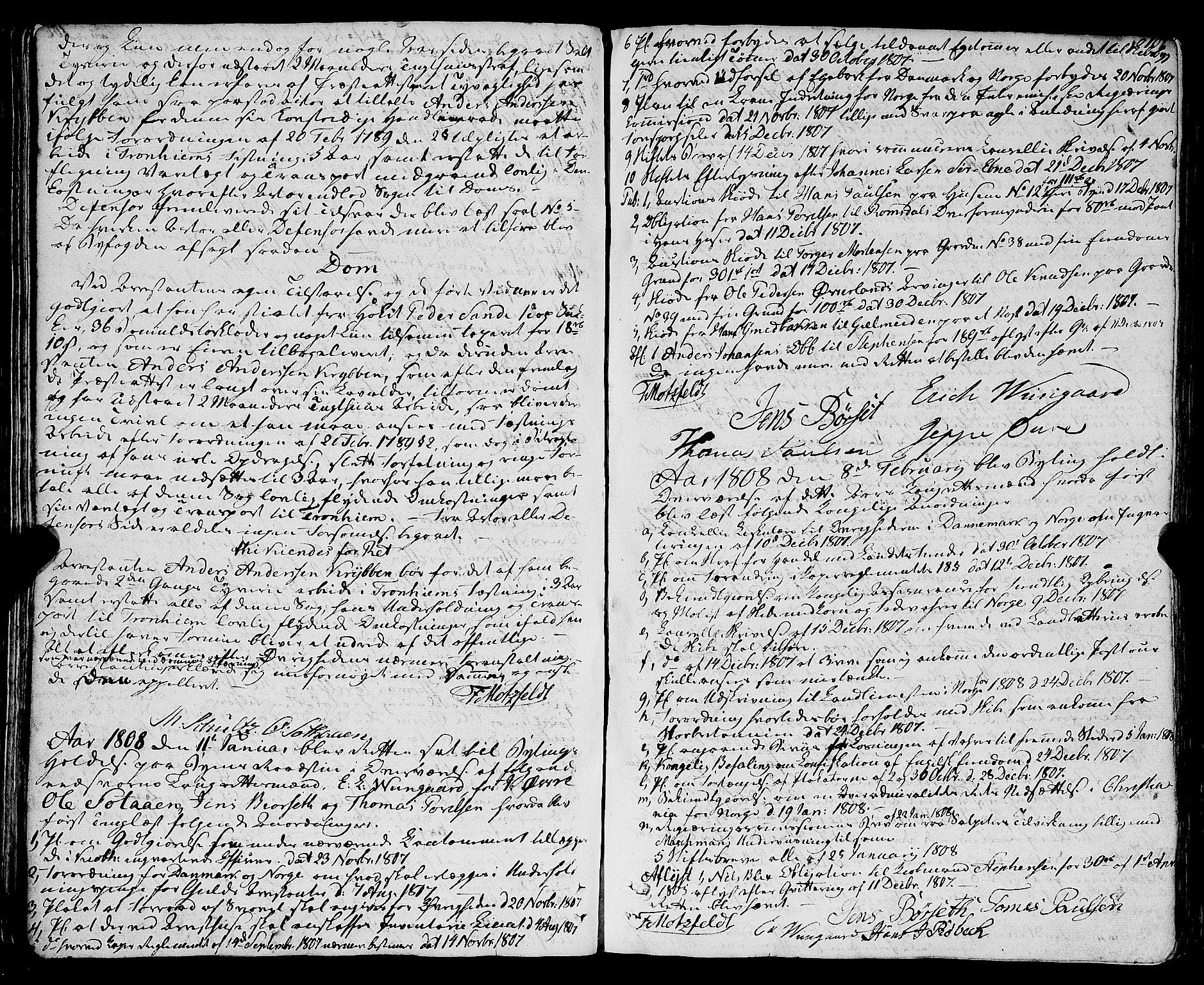 SAT, Molde byfogd, 1/1A/L0002: Justisprotokoll, 1797-1831, p. 106b-107a