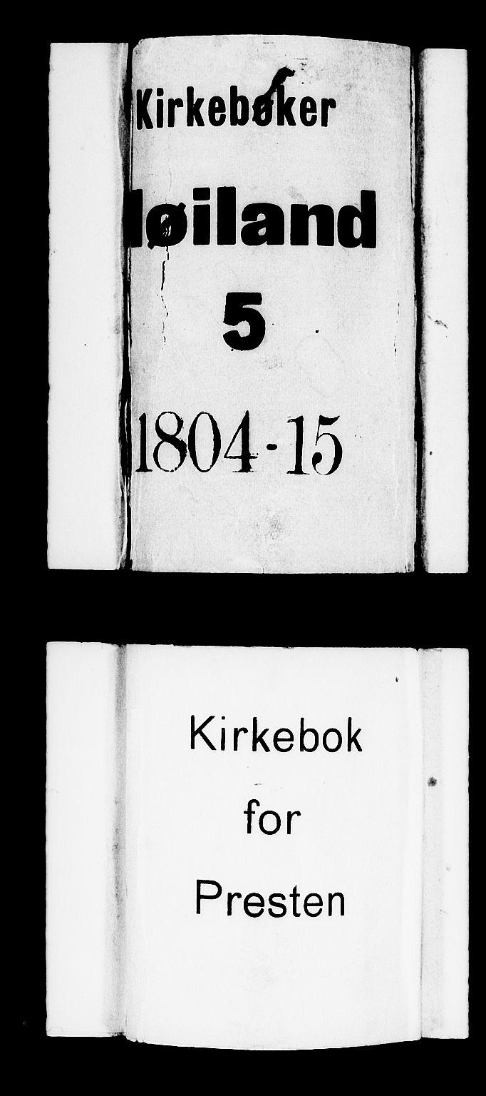 SAST, Høyland sokneprestkontor, 30BA/L0005: Parish register (official) no. A 5, 1804-1815