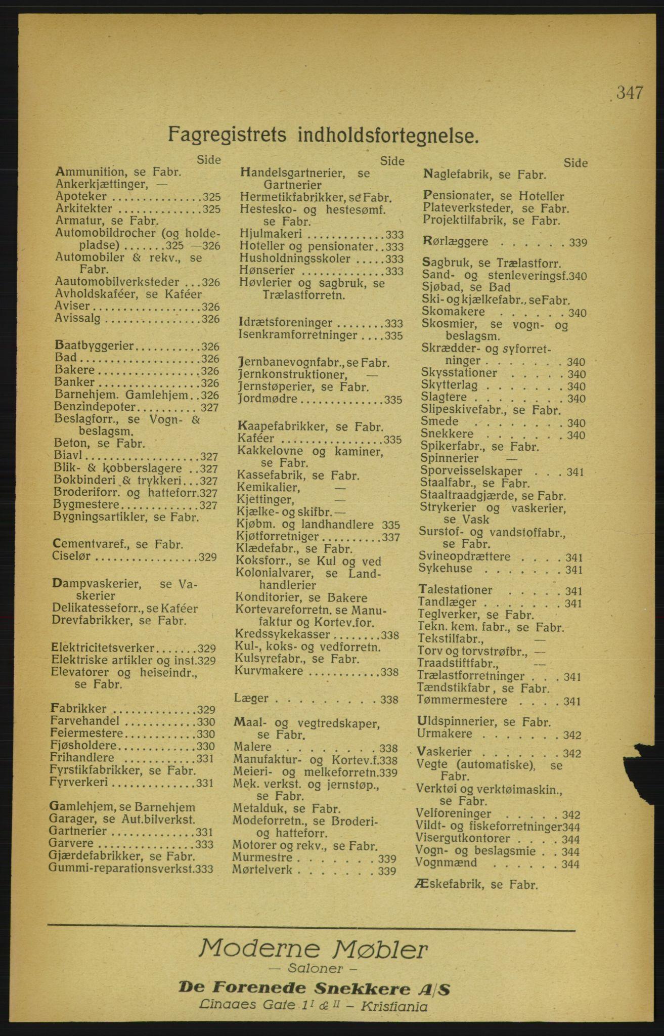 RA, Aker adressebok/adressekalender (publikasjon)*, 1922, p. 347