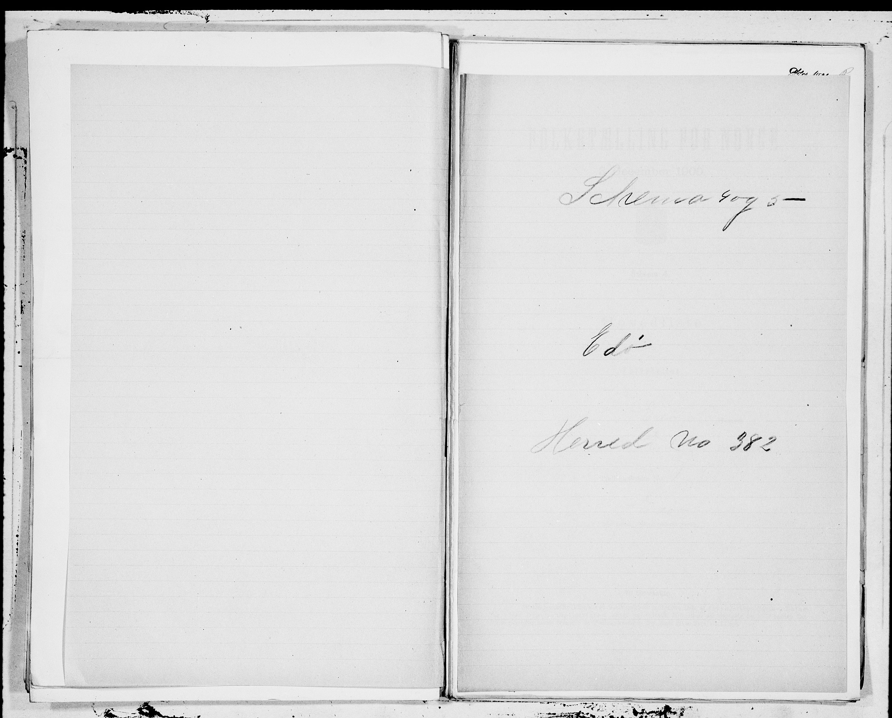 SAT, 1900 census for Edøy, 1900, p. 1