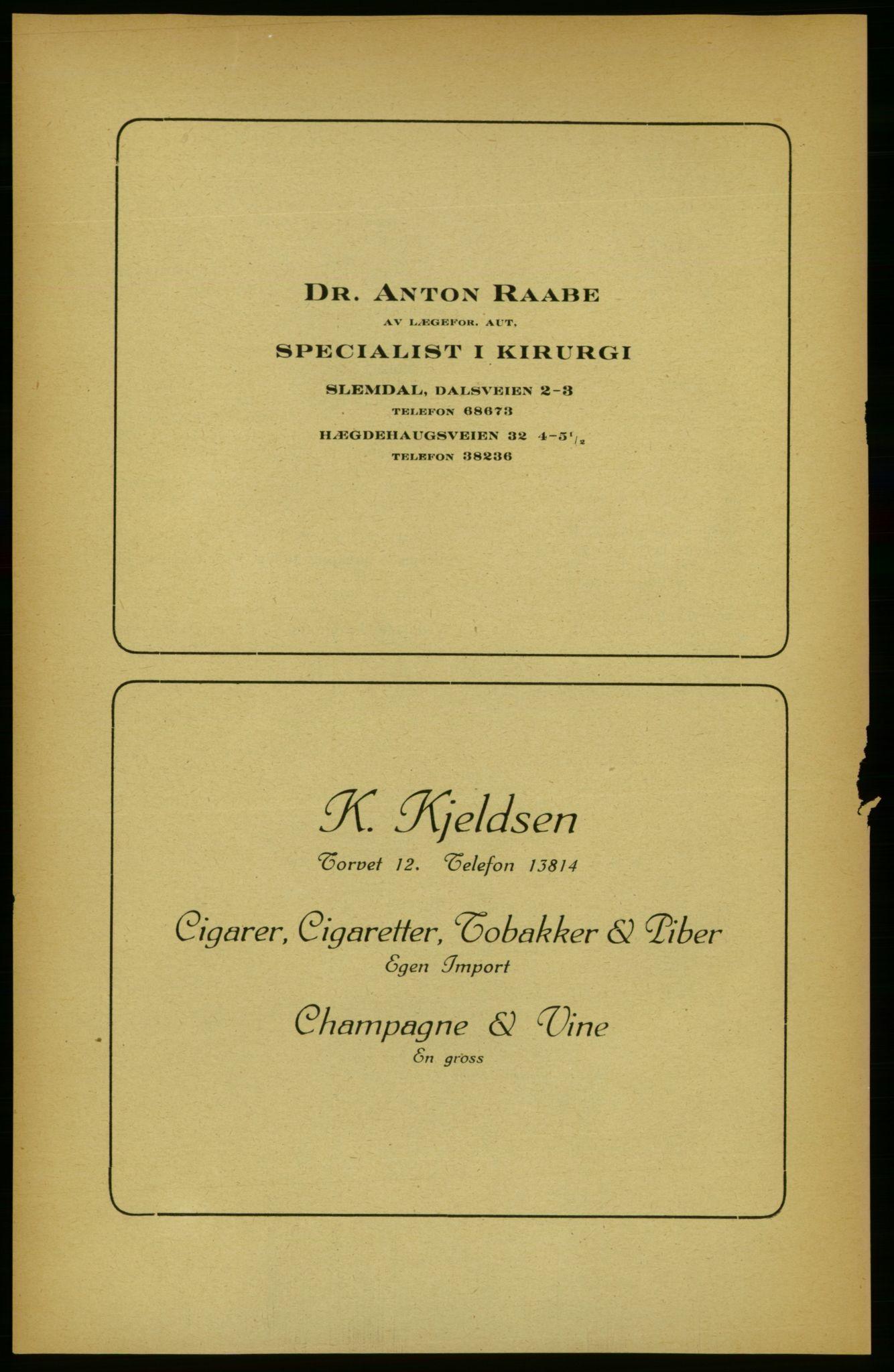 RA, Aker adressebok/adressekalender (publikasjon)*, 1922, p. 12