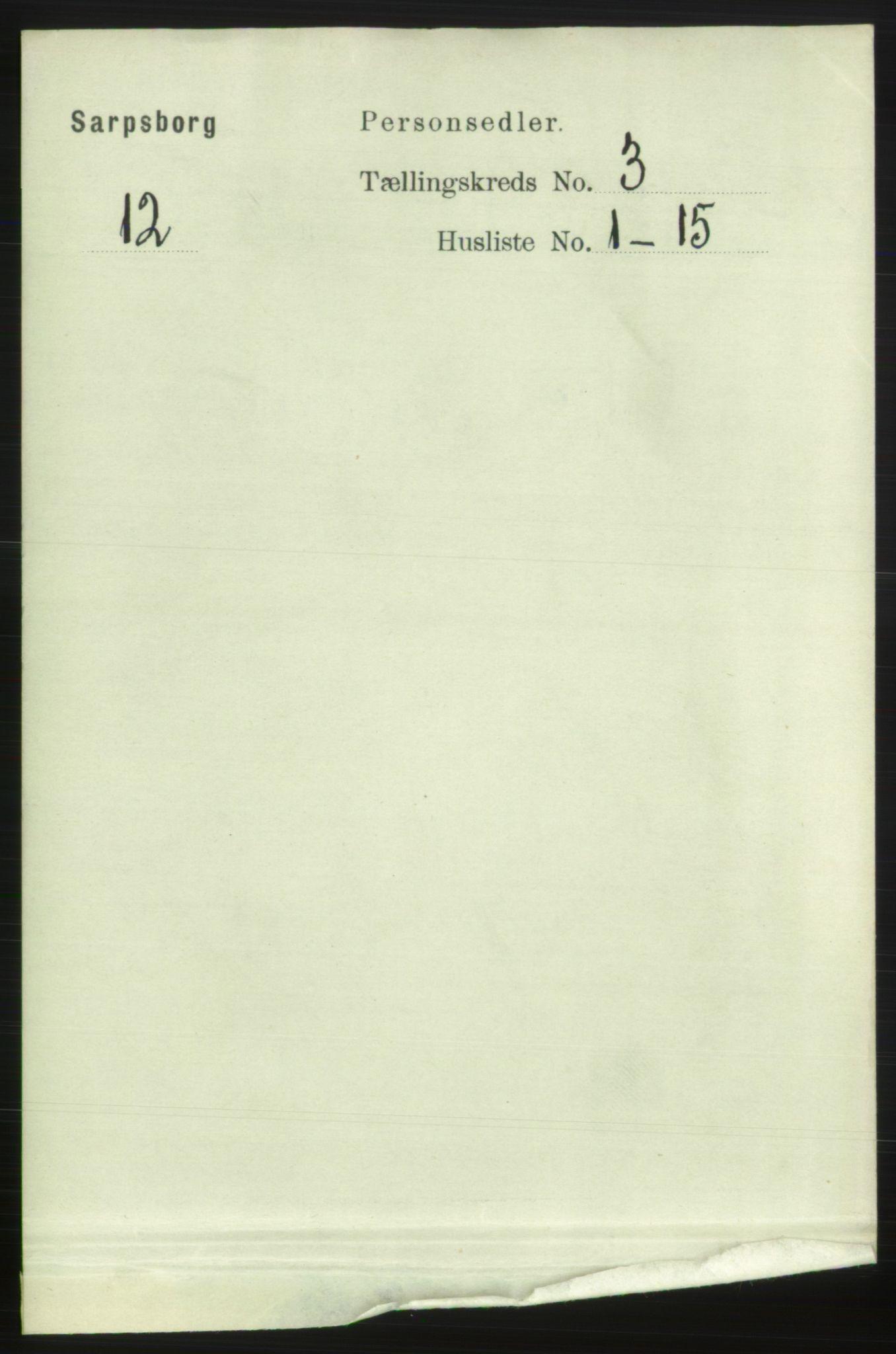 RA, 1891 census for 0102 Sarpsborg, 1891, p. 2432