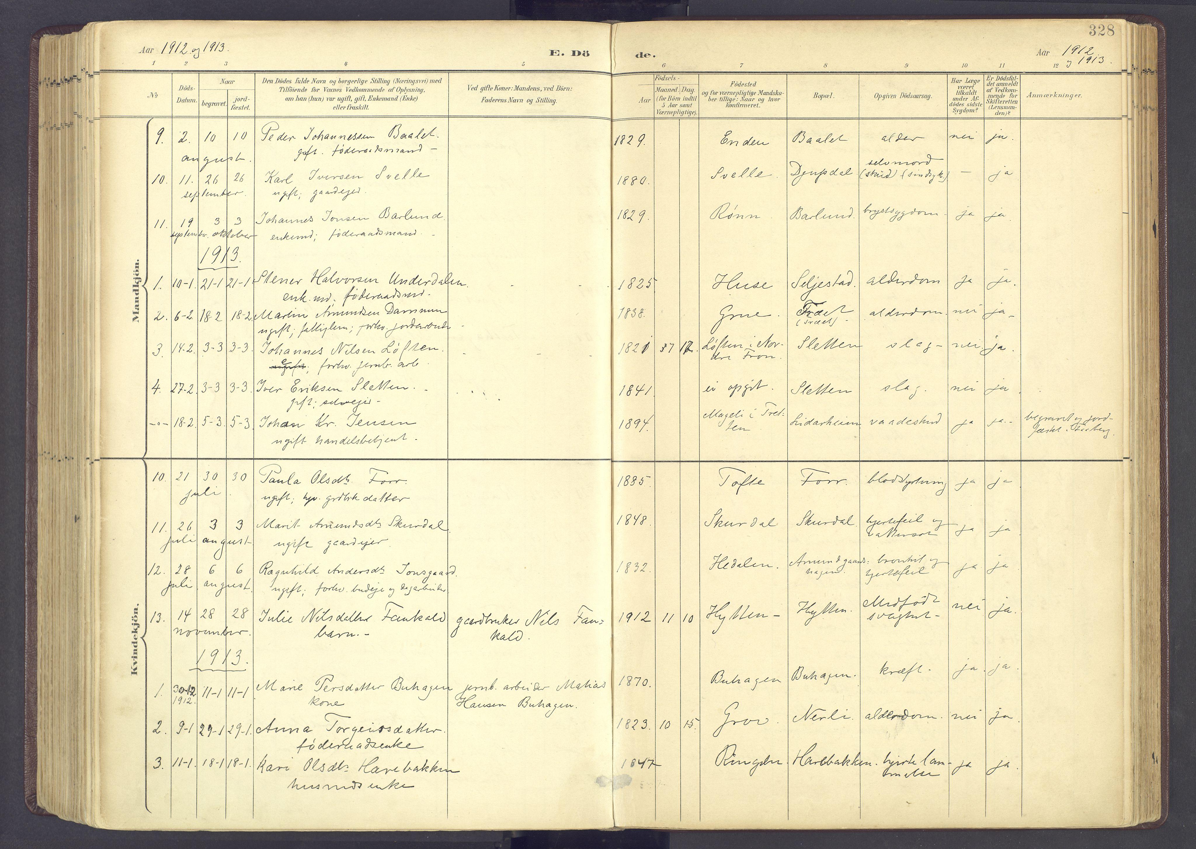 SAH, Sør-Fron prestekontor, H/Ha/Haa/L0004: Parish register (official) no. 4, 1898-1919, p. 328