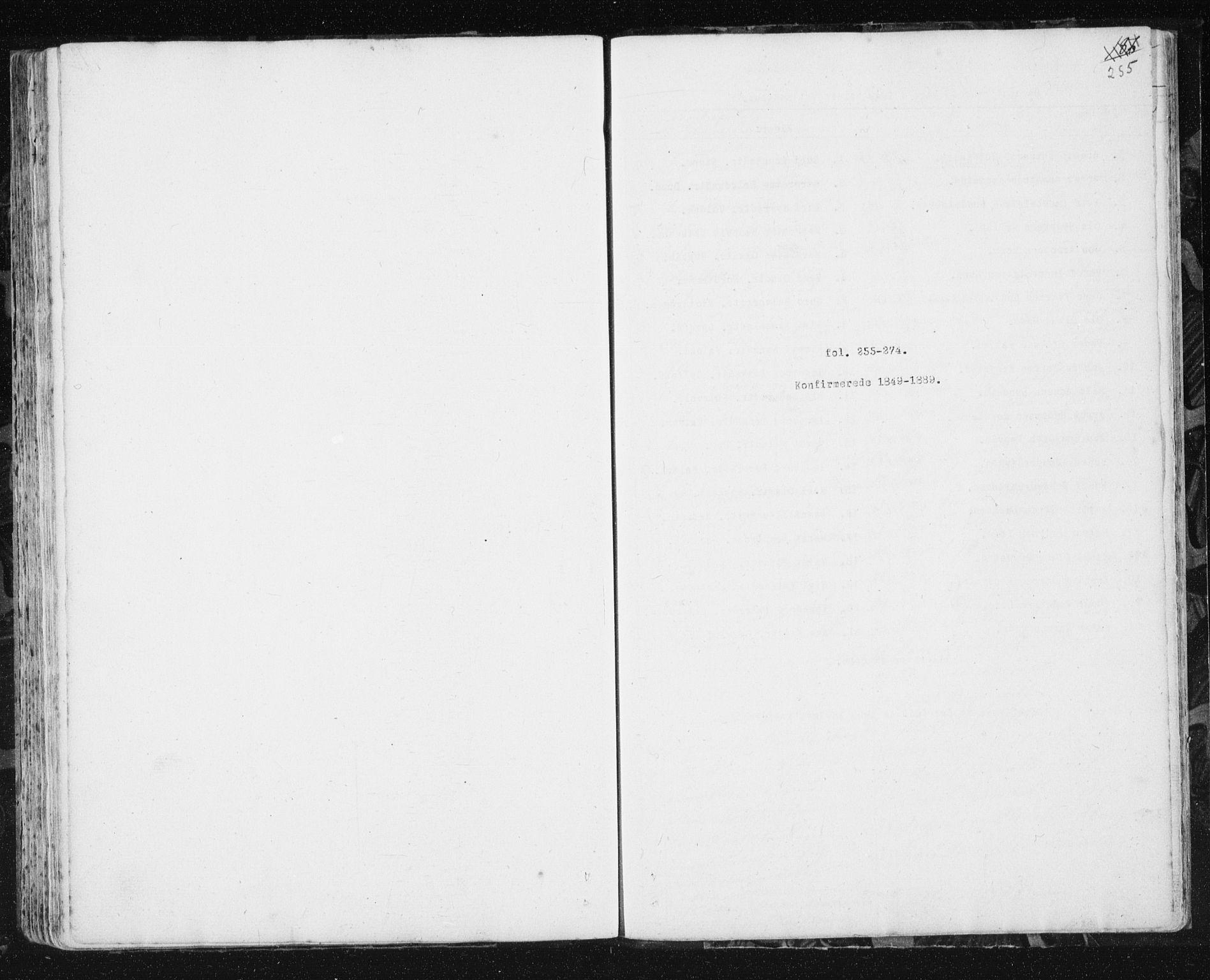 SAT, Ministerialprotokoller, klokkerbøker og fødselsregistre - Sør-Trøndelag, 692/L1110: Parish register (copy) no. 692C05, 1849-1889, p. 255
