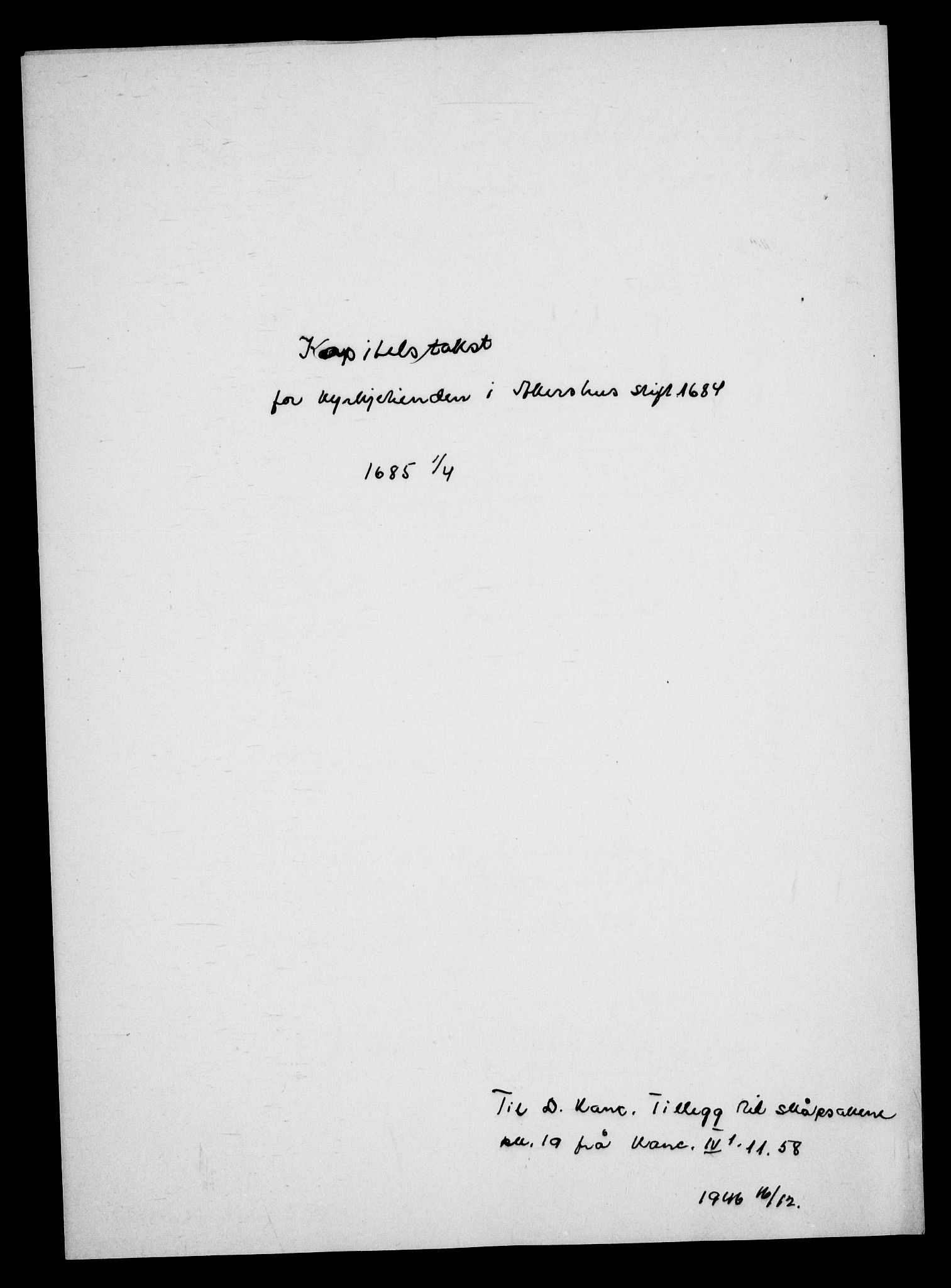 RA, Danske Kanselli, Skapsaker, G/L0019: Tillegg til skapsakene, 1616-1753, p. 240