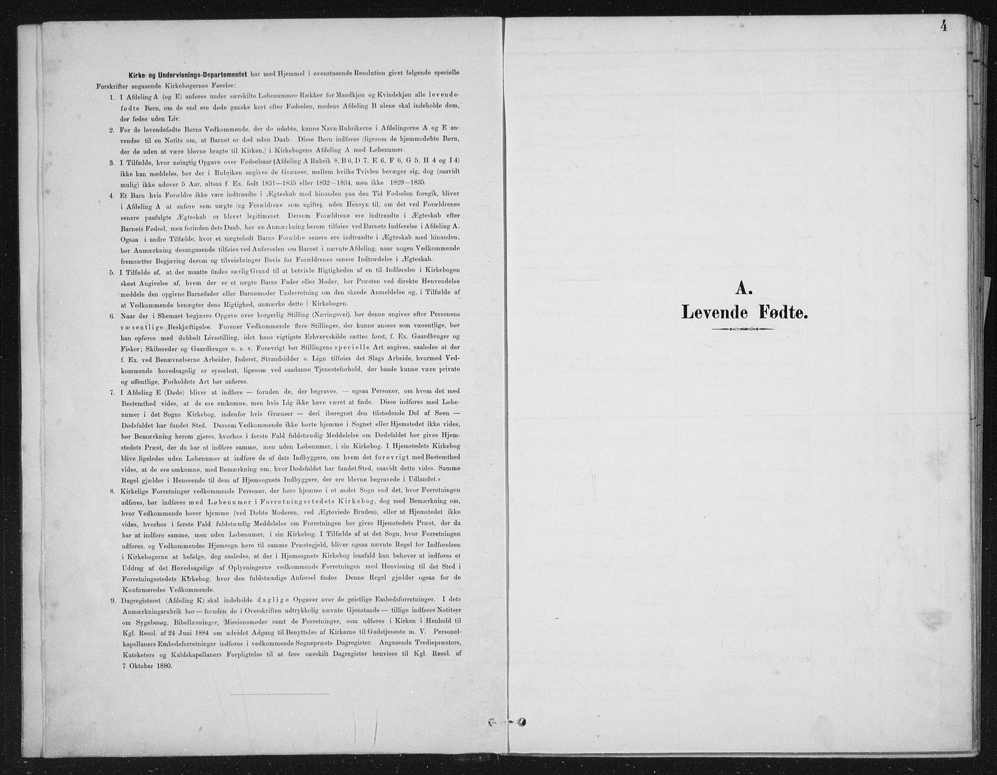 SAB, Kinn sokneprestembete, H/Haa/Haae/L0001: Parish register (official) no. E 1, 1890-1916, p. 4