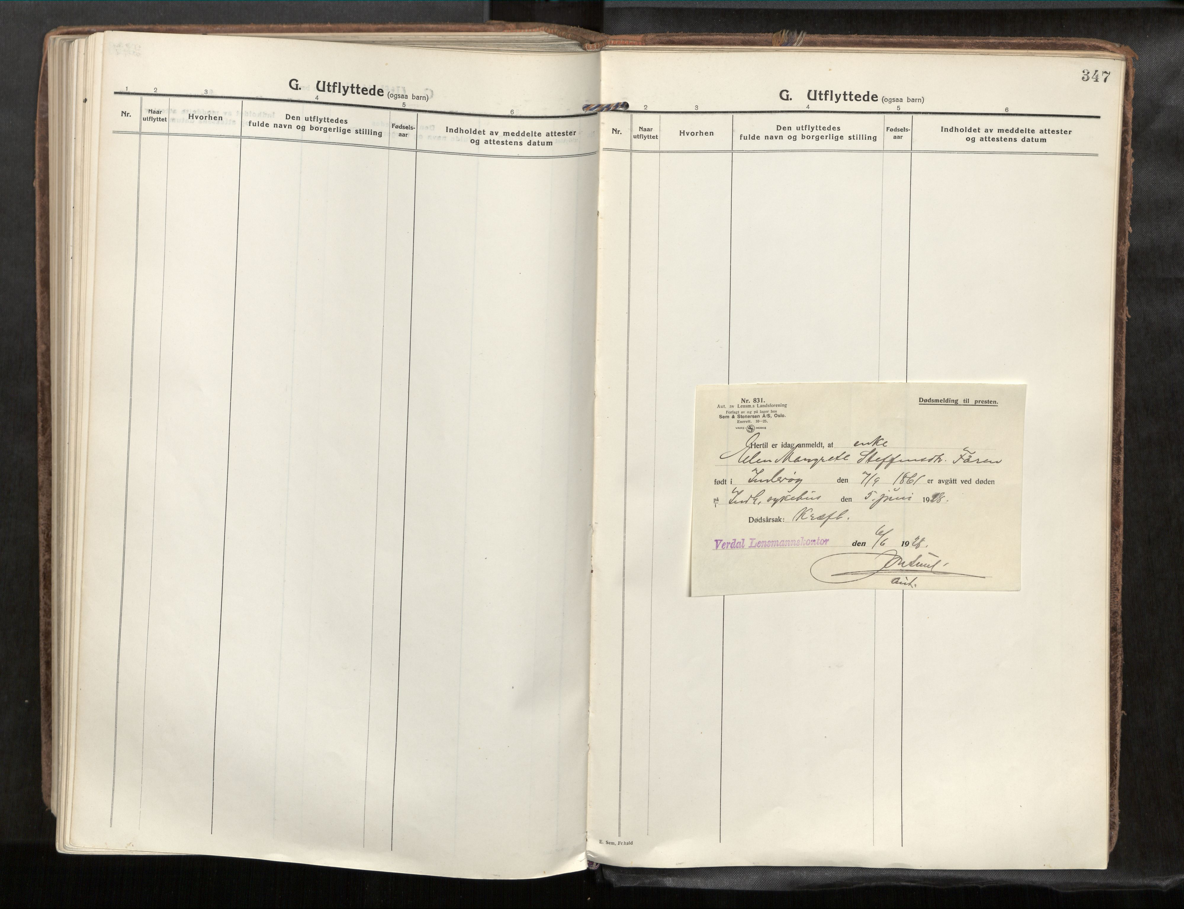 SAT, Verdal sokneprestkontor*, Parish register (official) no. 1, 1917-1932