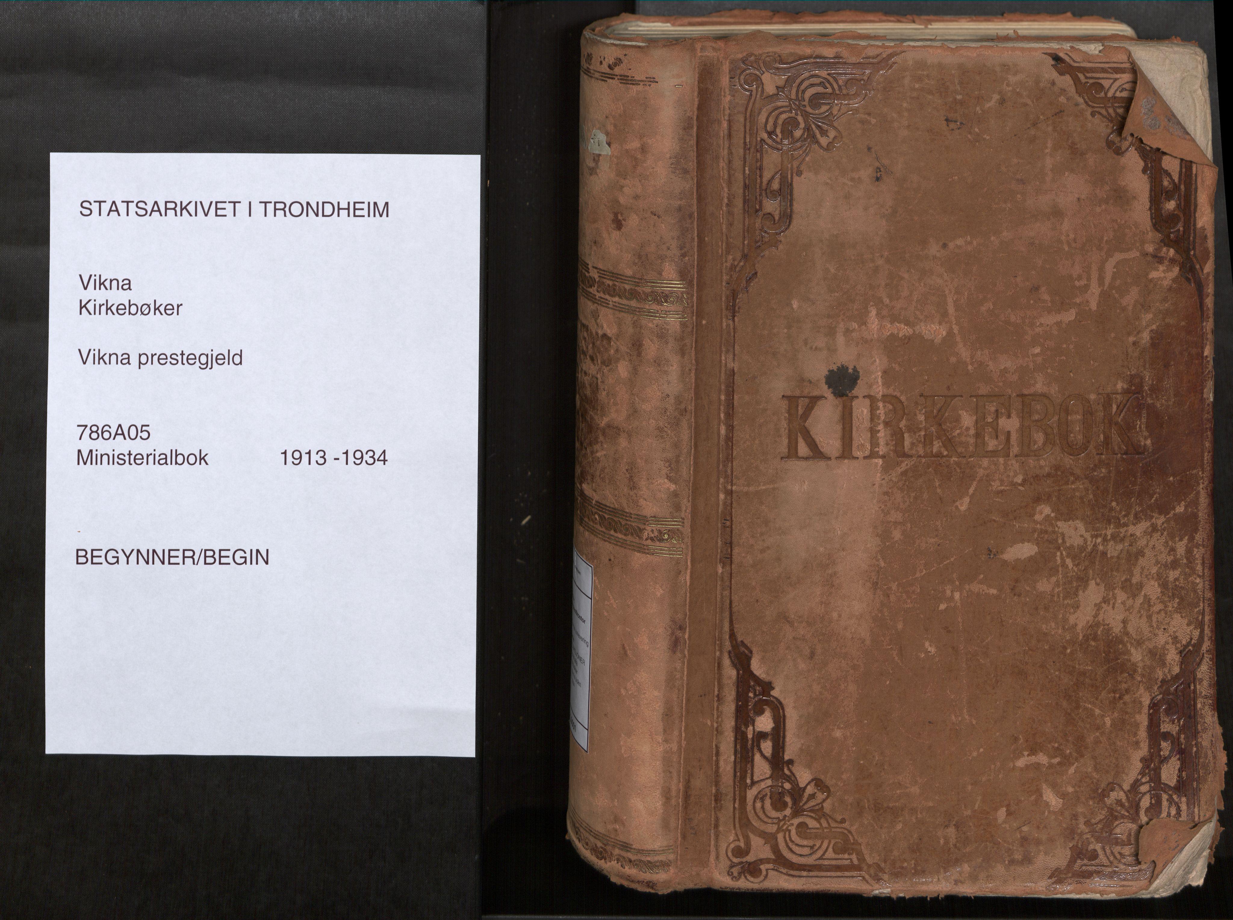 SAT, Vikna sokneprestkontor*, Parish register (official) no. 1, 1913-1934
