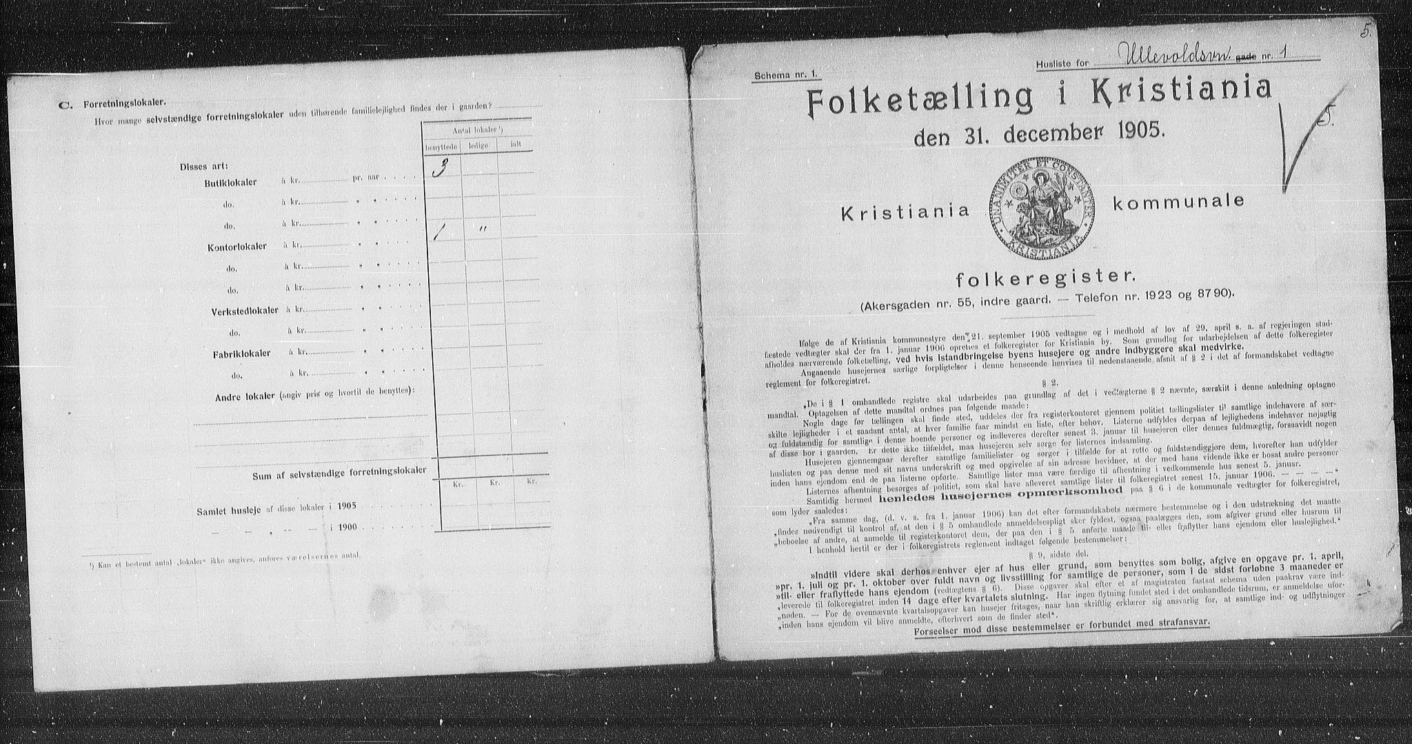 OBA, Municipal Census 1905 for Kristiania, 1905, p. 62388