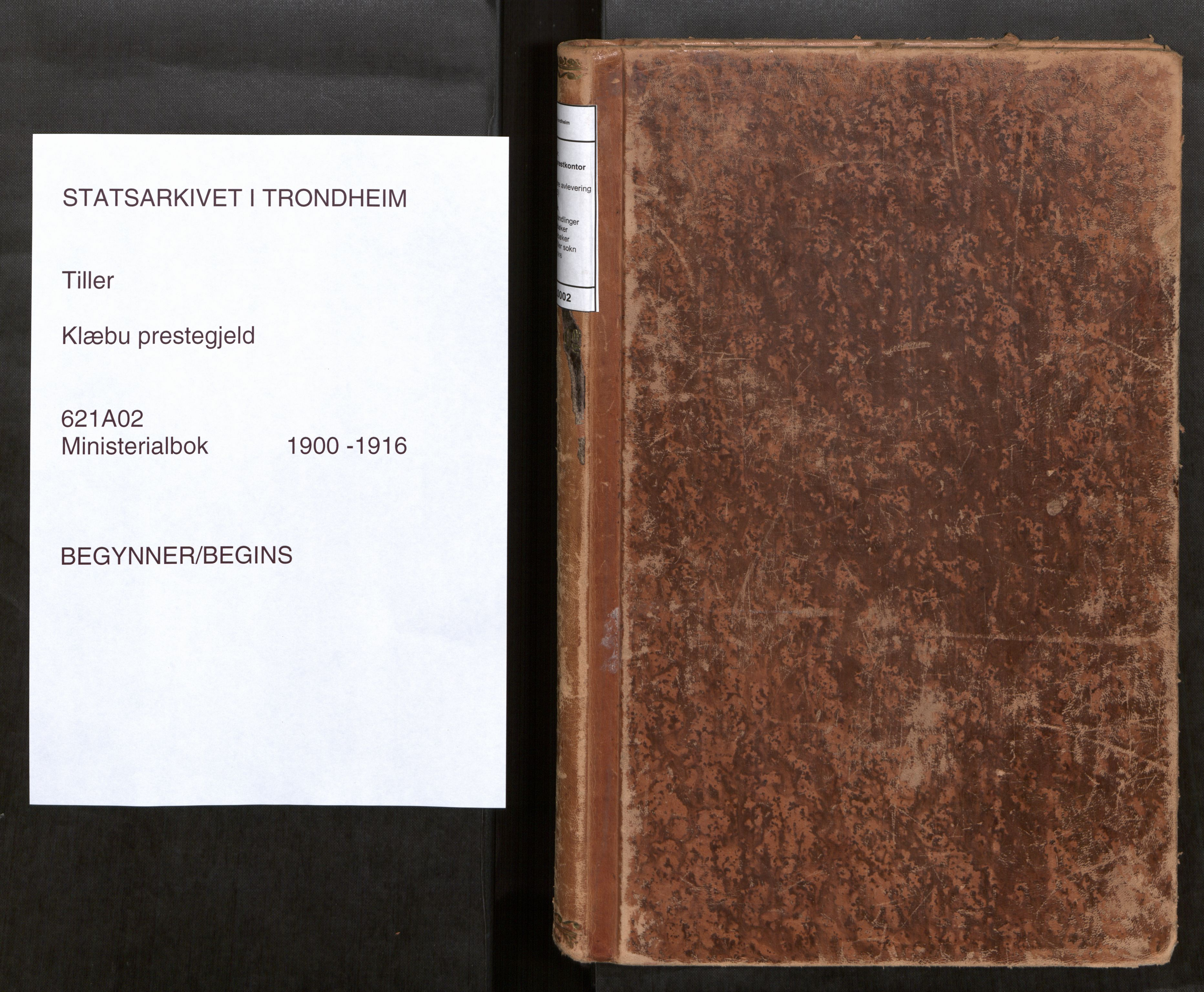 SAT, Klæbu sokneprestkontor, Parish register (official) no. 2, 1900-1916