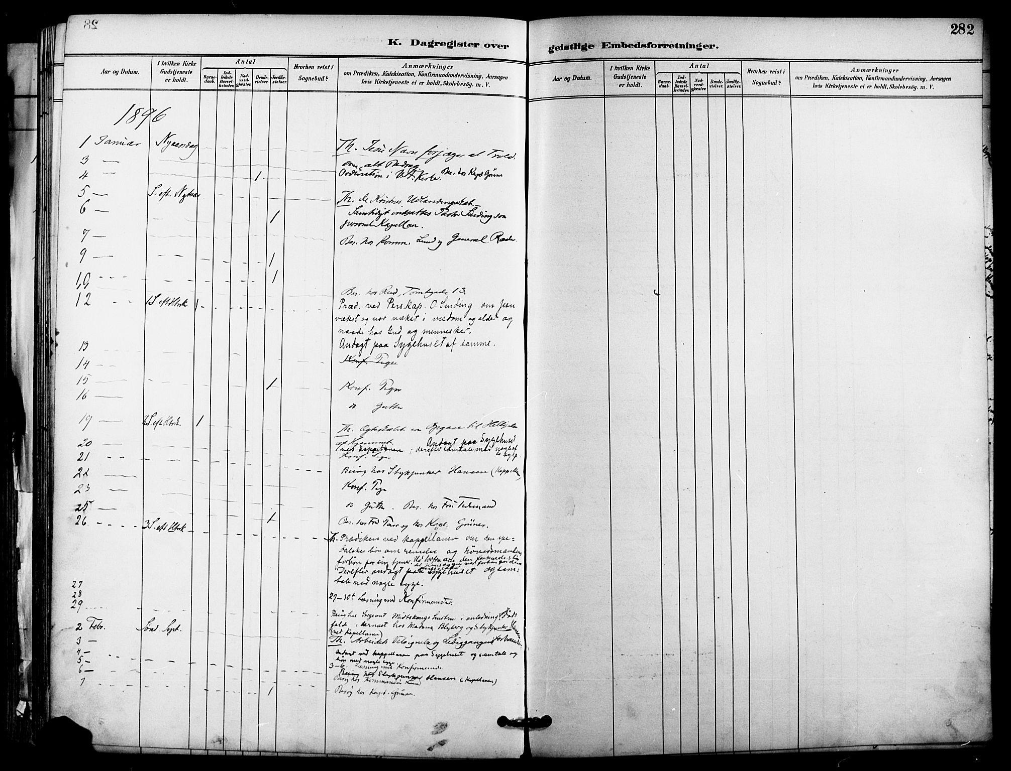 SAO, Garnisonsmenigheten Kirkebøker, F/Fa/L0013: Parish register (official) no. 13, 1894-1904, p. 282