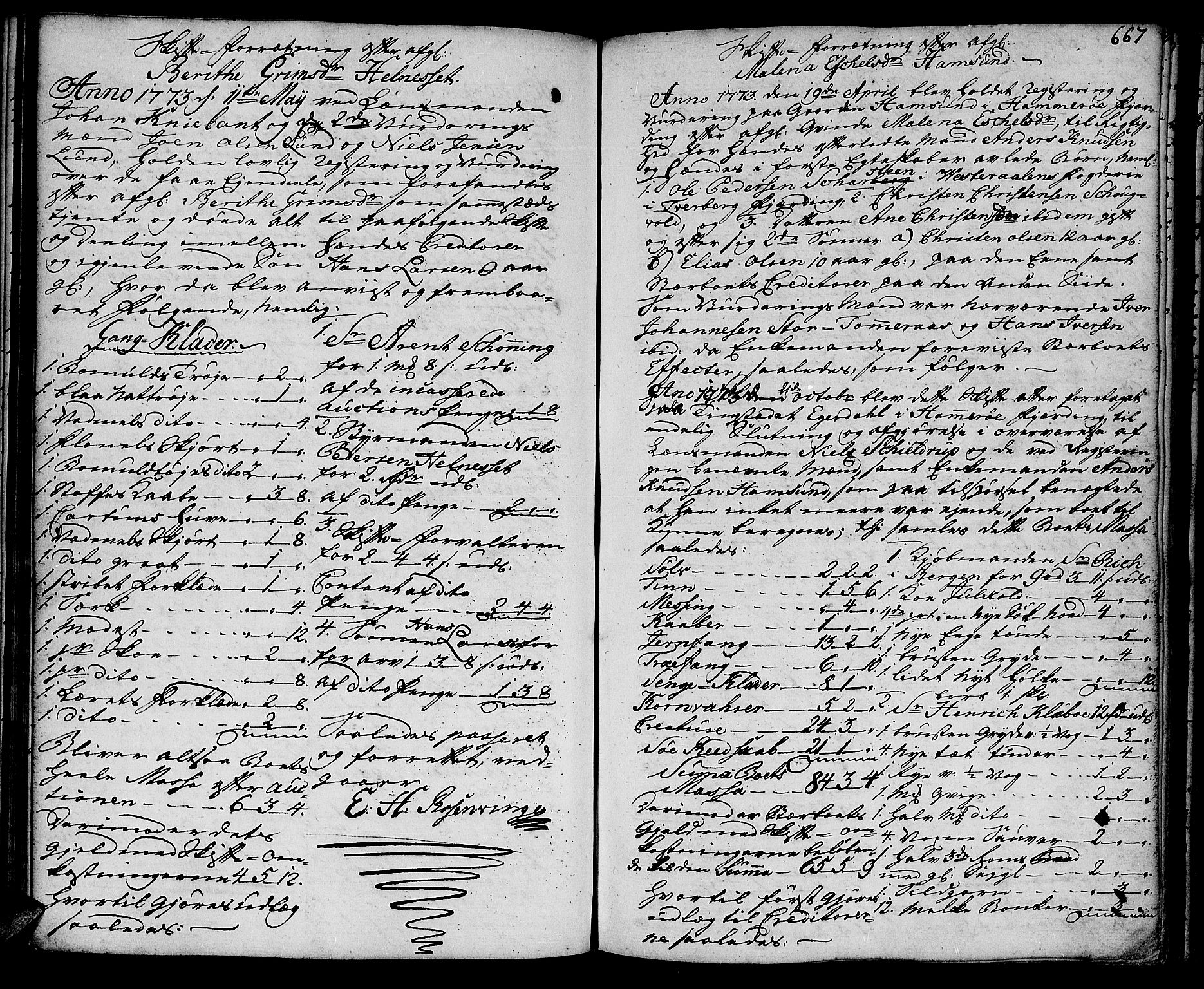 SAT, Salten sorenskriveri, 3/3A/L0016: Skifteprotokoll 8c, 1772-1777, p. 666b-667a