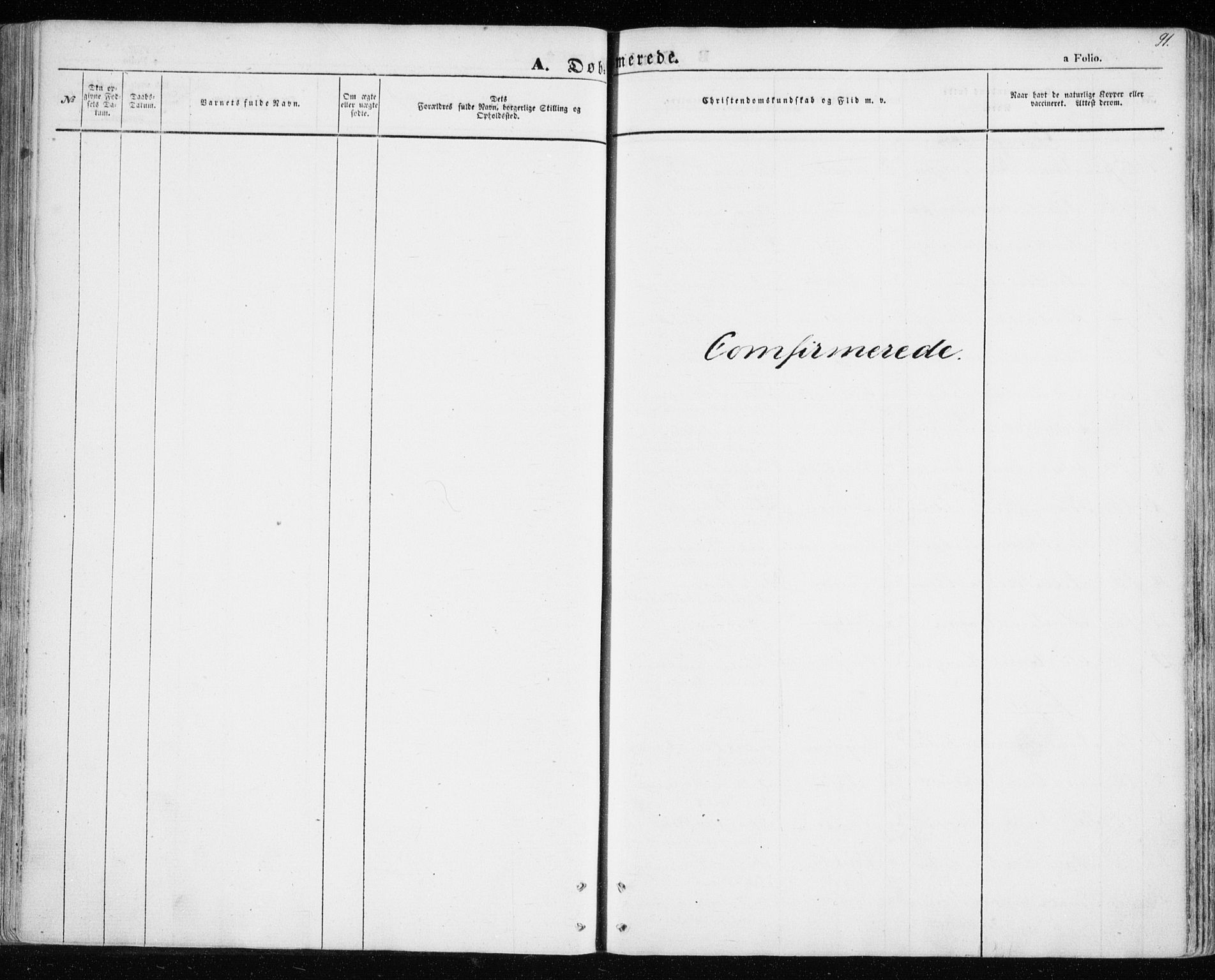 SATØ, Balsfjord sokneprestembete, Parish register (official) no. 3, 1856-1870, p. 91