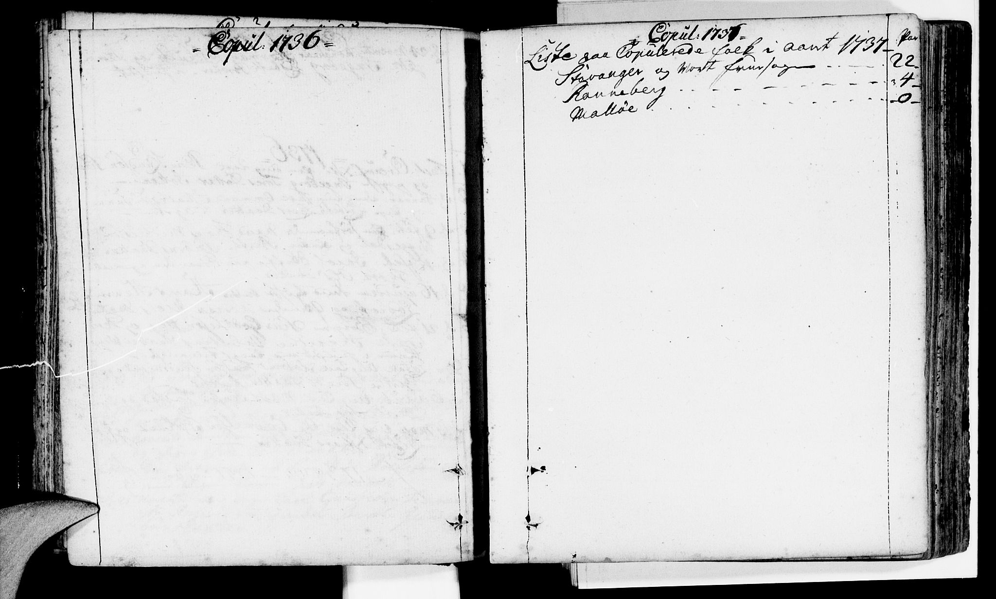 SAST, Domkirken sokneprestkontor, 30/30BA/L0002: Parish register (official) no. A 2 /1, 1727-1738