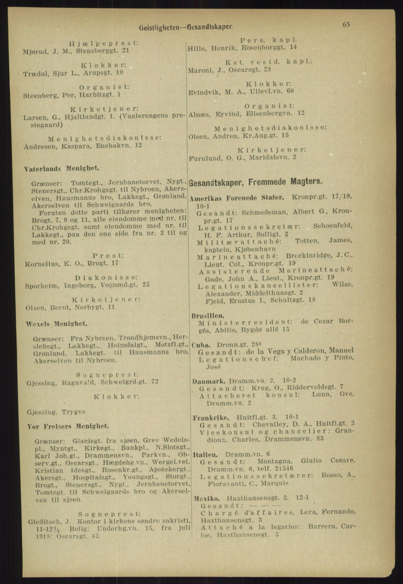 PUBL, Kristiania/Oslo adressebok, 1918, p. 72