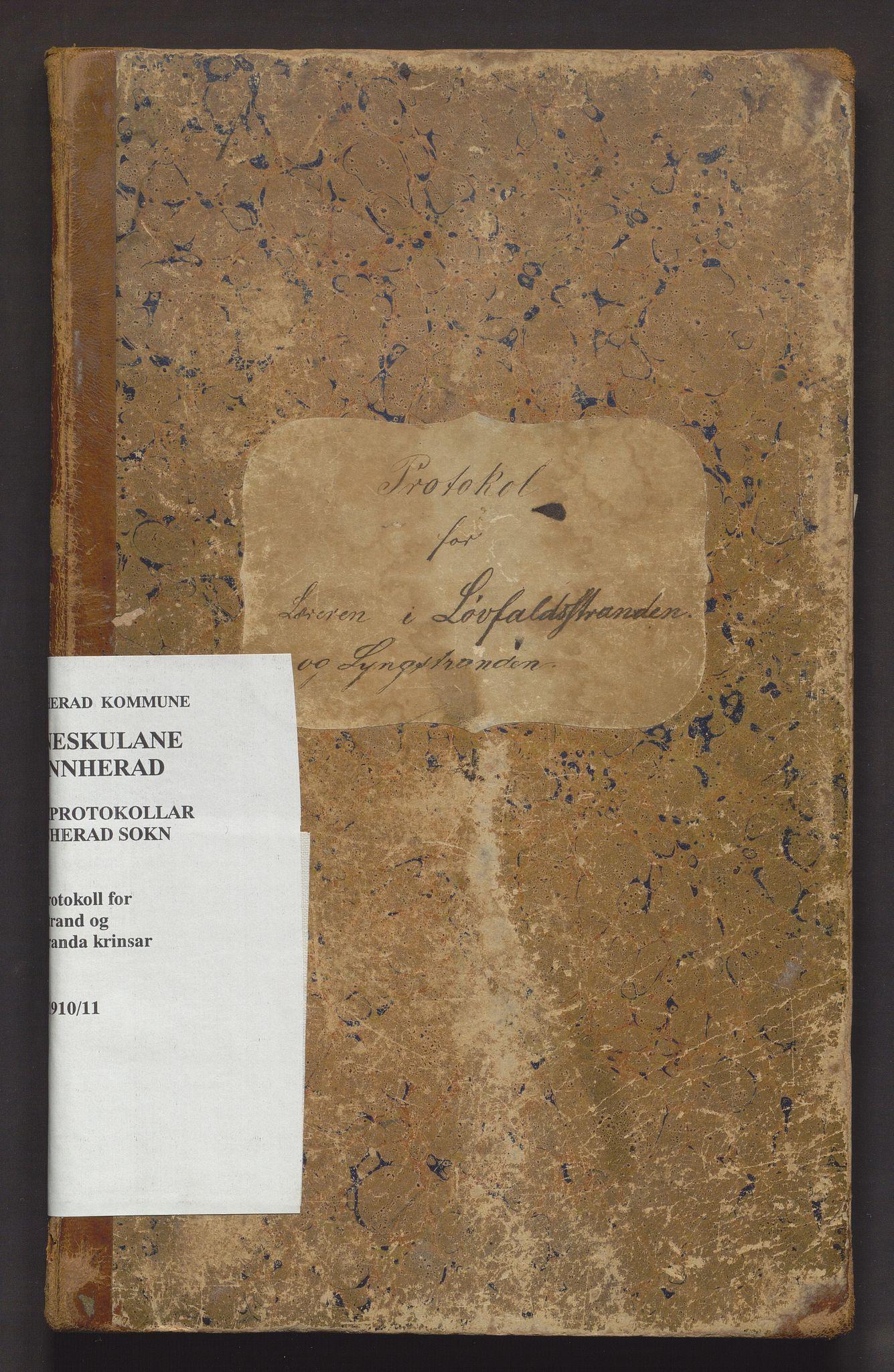 IKAH, Kvinnherad kommune. Barneskulane, F/Fe/L0003: Skuleprotokoll for Løvfallstranden og Lyngstranden krinsar, 1876-1911