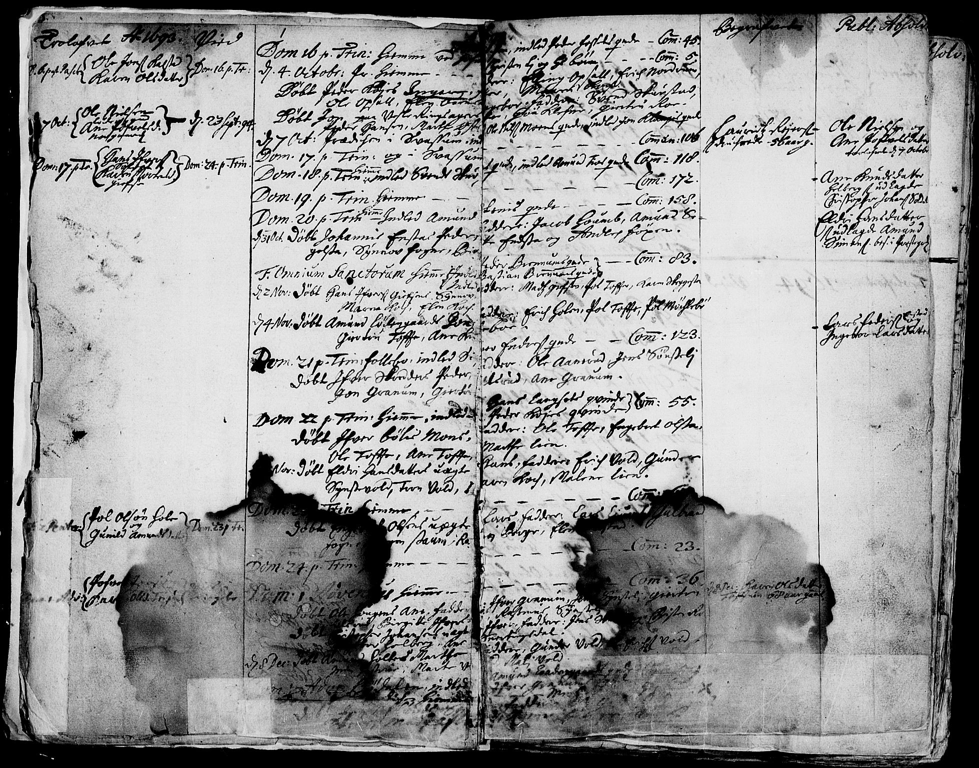 SAH, Gausdal prestekontor, Parish register (official) no. 1, 1693-1728, p. 1