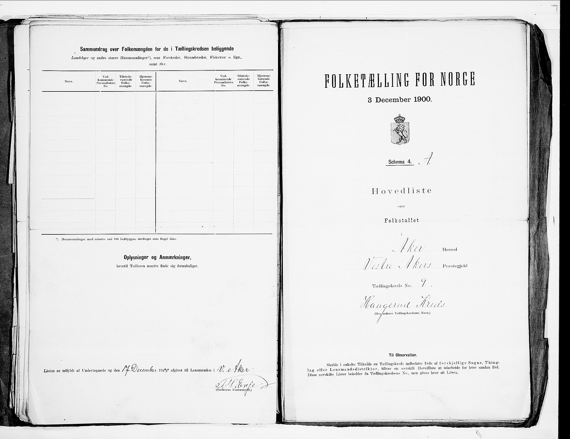 SAO, 1900 census for Aker, 1900, p. 60