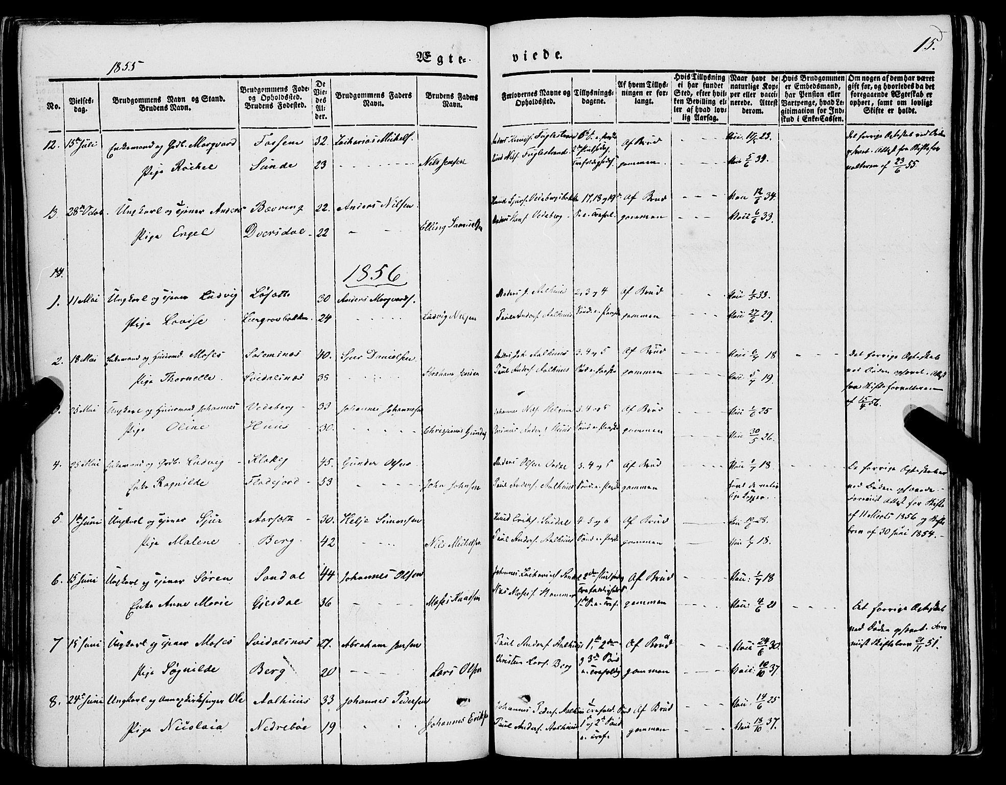 SAB, Jølster sokneprestembete, H/Haa/Haaa/L0010: Parish register (official) no. A 10, 1847-1865, p. 15
