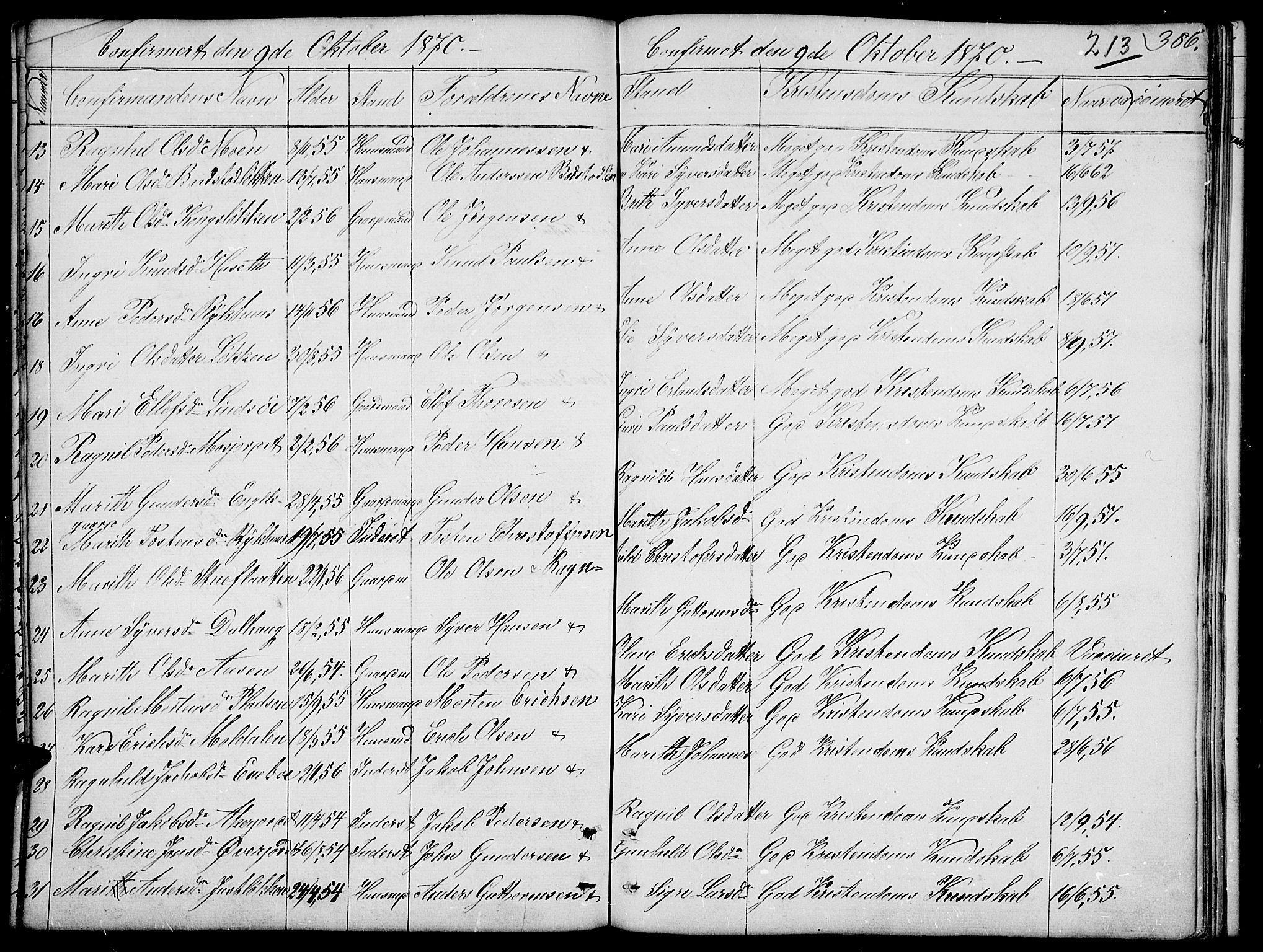 SAH, Dovre prestekontor, Parish register (copy) no. 1, 1862-1880, p. 386