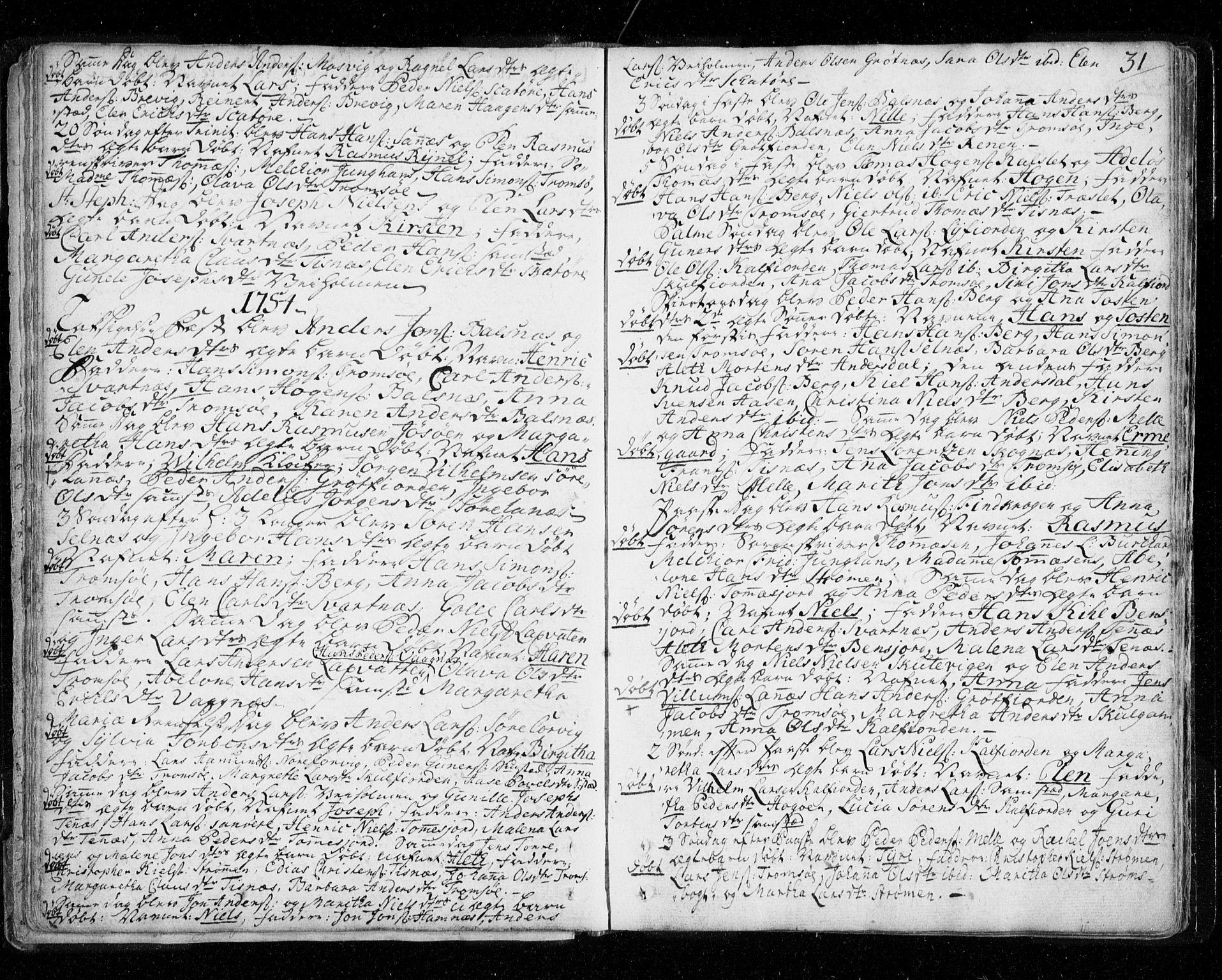 SATØ, Tromsø sokneprestkontor/stiftsprosti/domprosti, G/Ga/L0002kirke: Parish register (official) no. 2, 1753-1778, p. 31