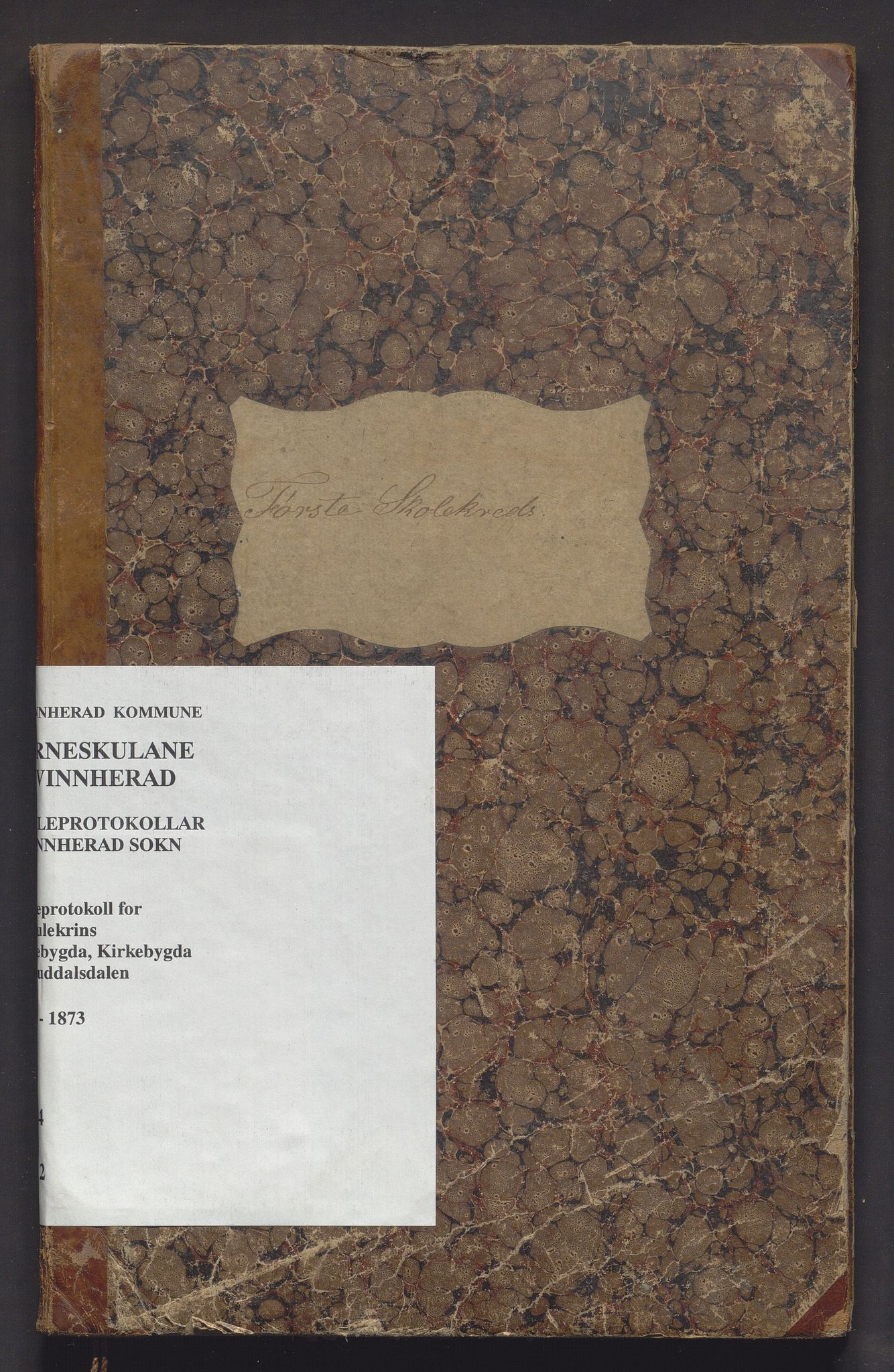 IKAH, Kvinnherad kommune. Barneskulane, F/Fe/L0002: Skuleprotokoll for 1. skulekrins: Skaalebygden, Kirkebygden og Guddalsdalen krinsskular , 1862-1873