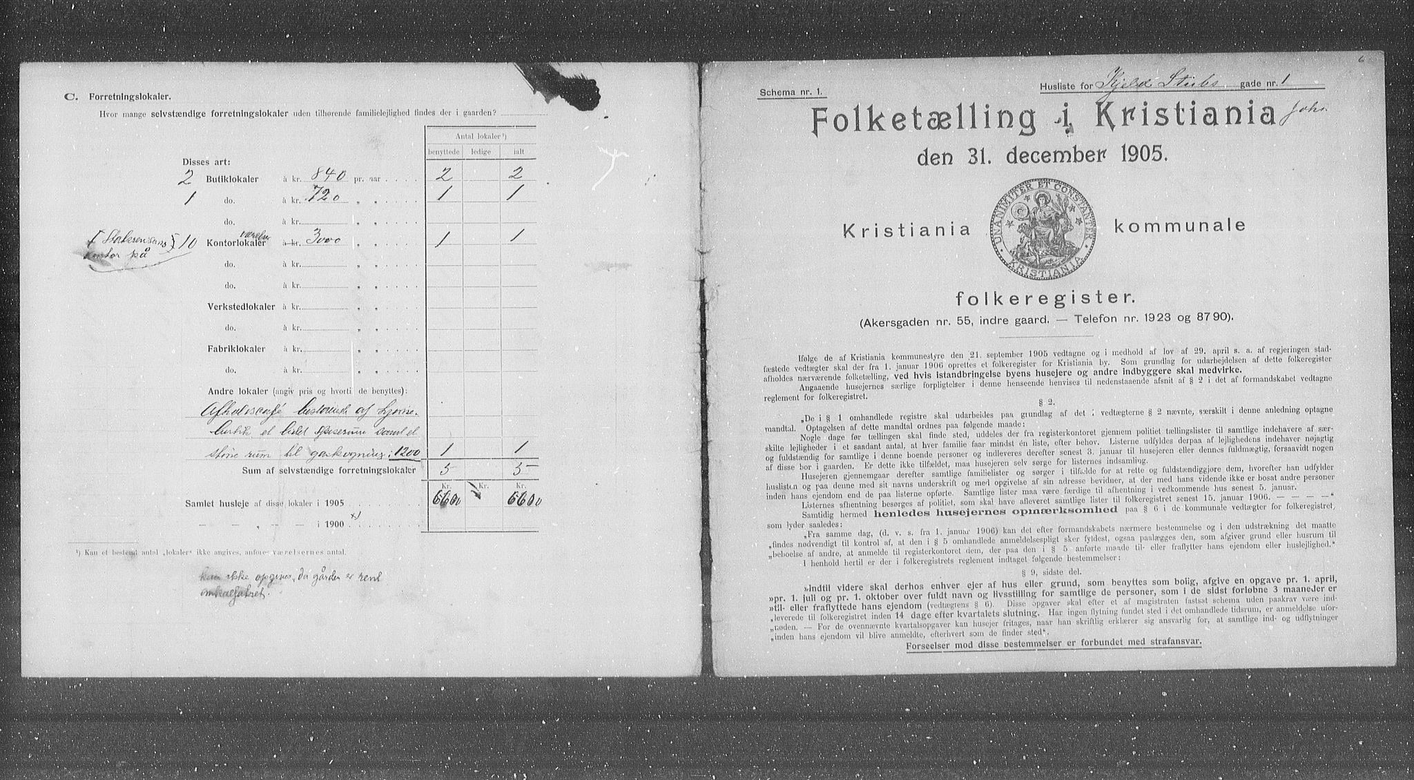 OBA, Municipal Census 1905 for Kristiania, 1905, p. 26884