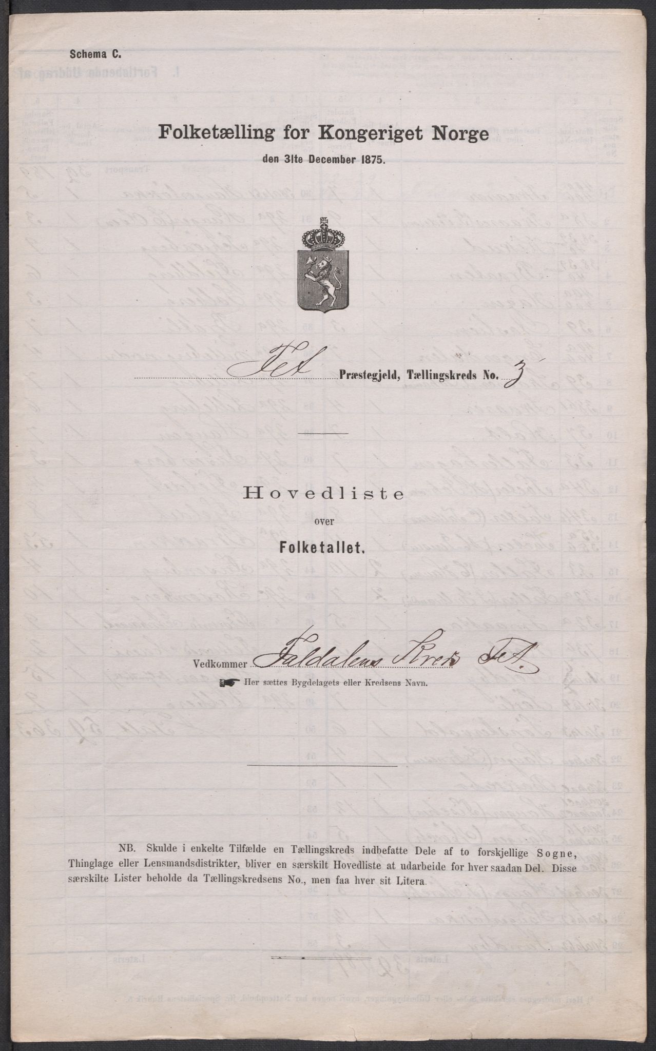 RA, 1875 census for 0227P Fet, 1875, p. 54