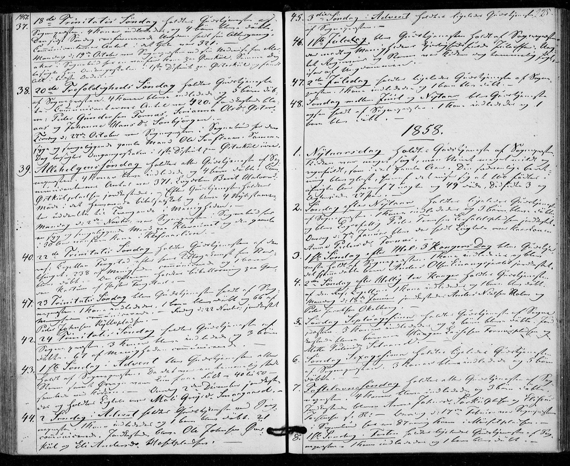 SAT, Ministerialprotokoller, klokkerbøker og fødselsregistre - Nord-Trøndelag, 703/L0028: Parish register (official) no. 703A01, 1850-1862, p. 225