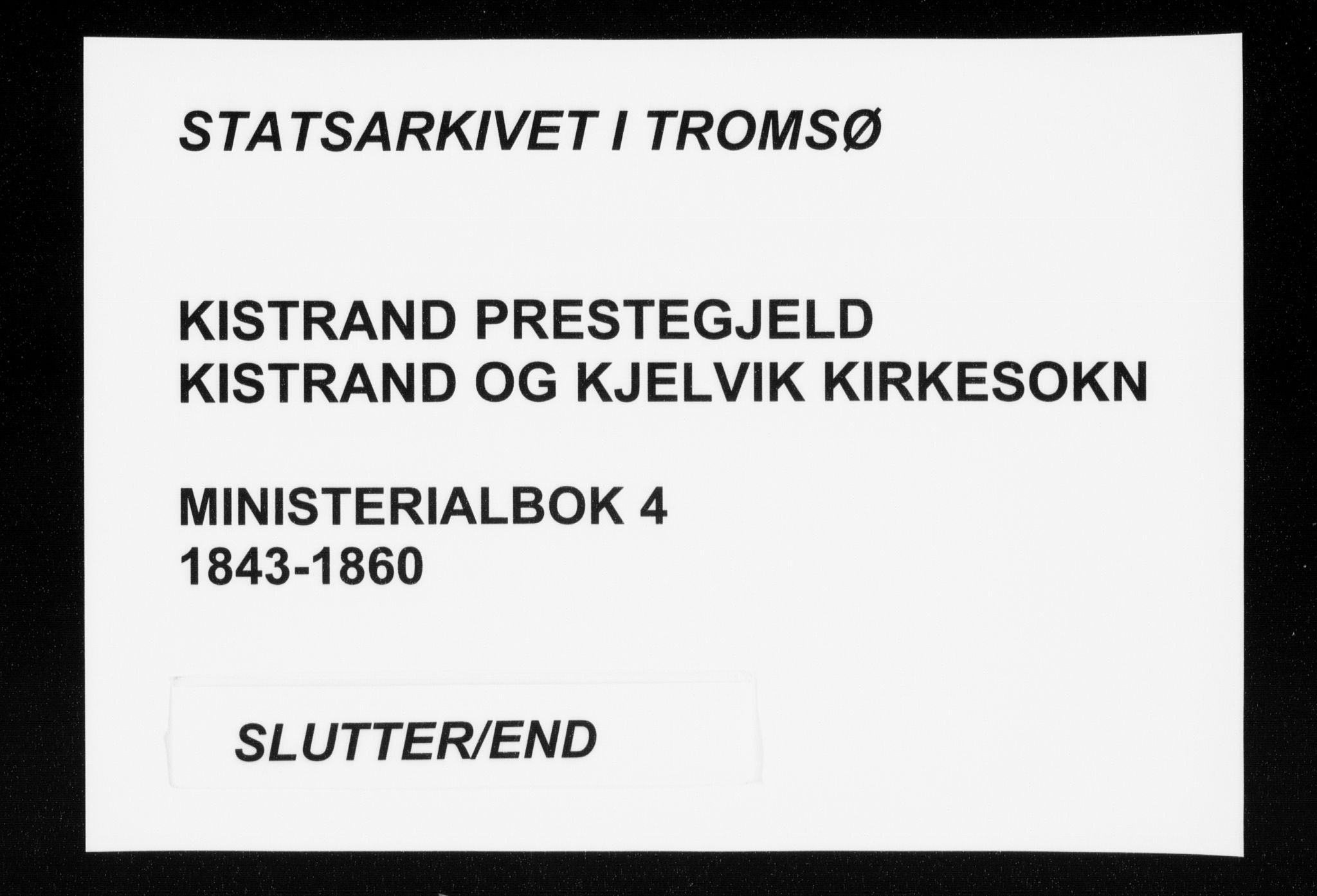 SATØ, Kistrand/Porsanger sokneprestembete, H/Ha/L0004.kirke: Parish register (official) no. 4, 1843-1860