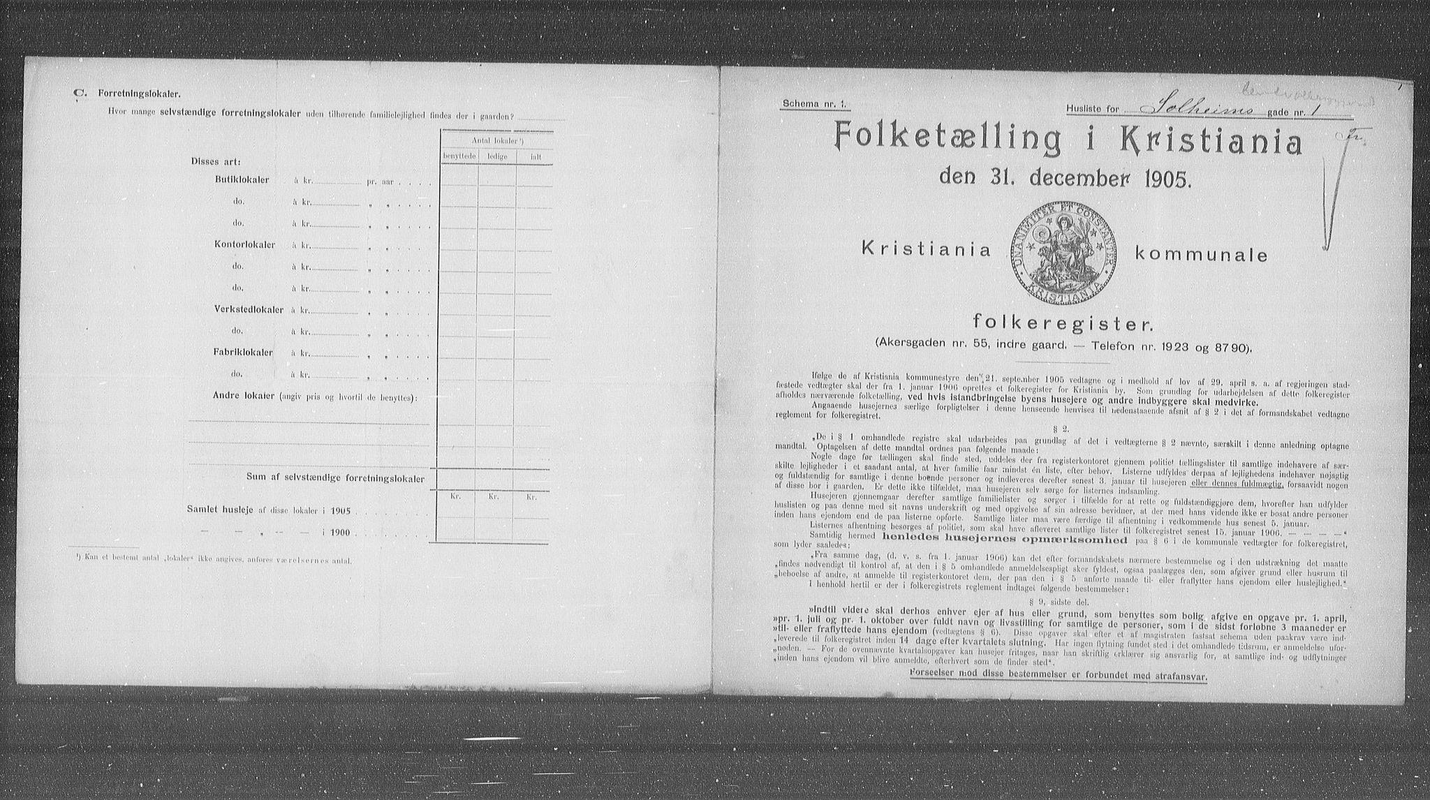 OBA, Municipal Census 1905 for Kristiania, 1905, p. 51634