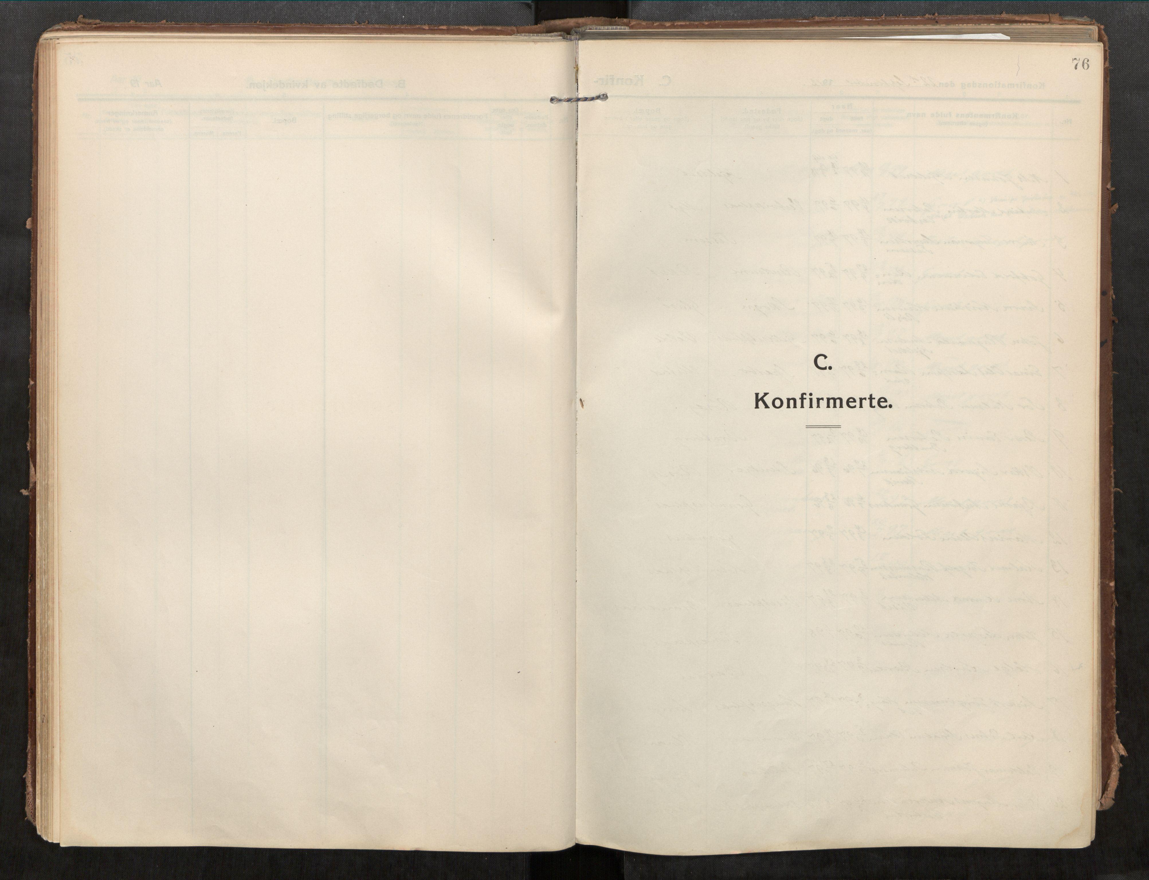 SAT, Beitstad sokneprestkontor, I/I1/I1a/L0001: Parish register (official) no. 1, 1912-1927, p. 76