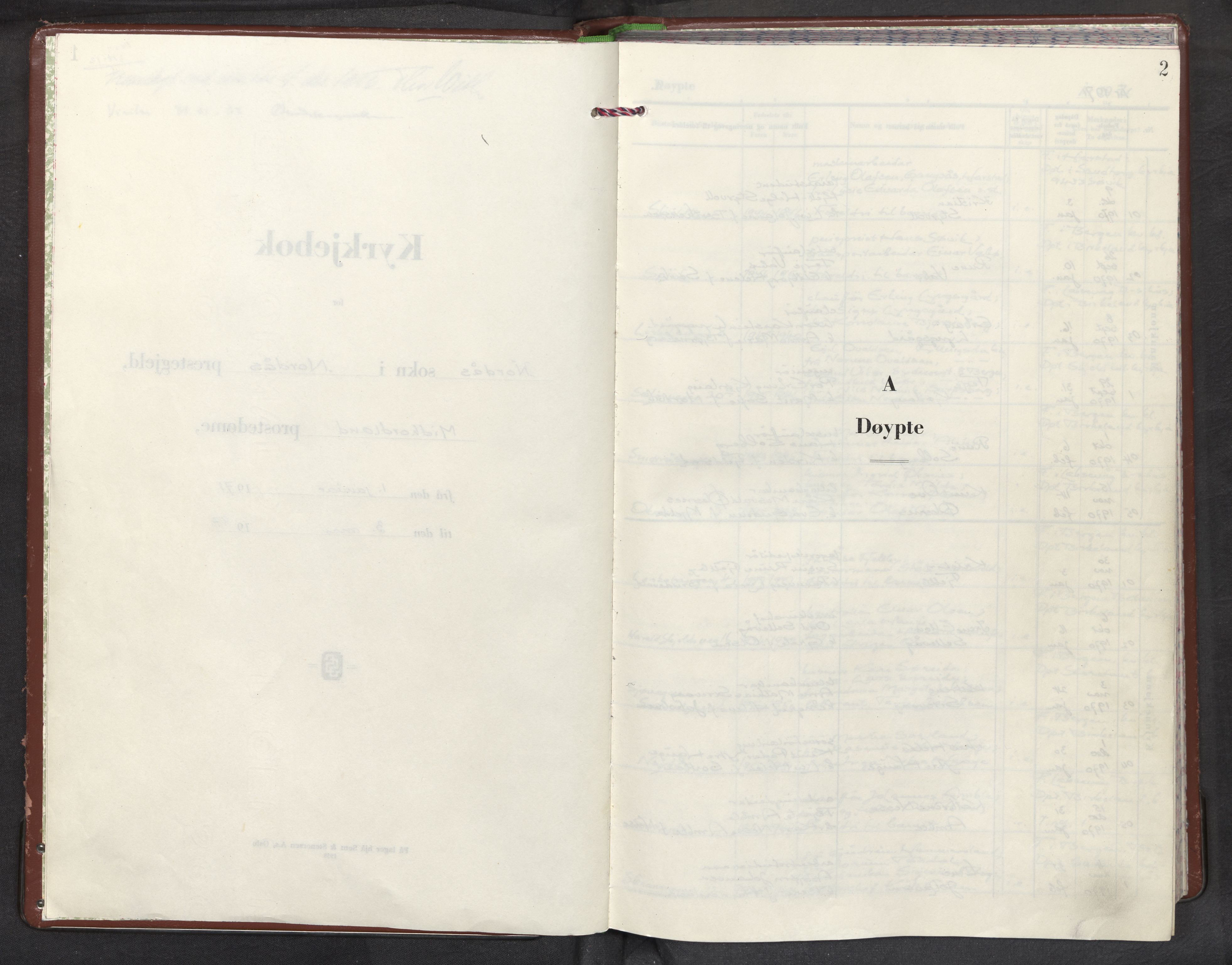 SAB, Nordås sokneprestembete, Parish register (official) no. A 1, 1971-1987, p. 2