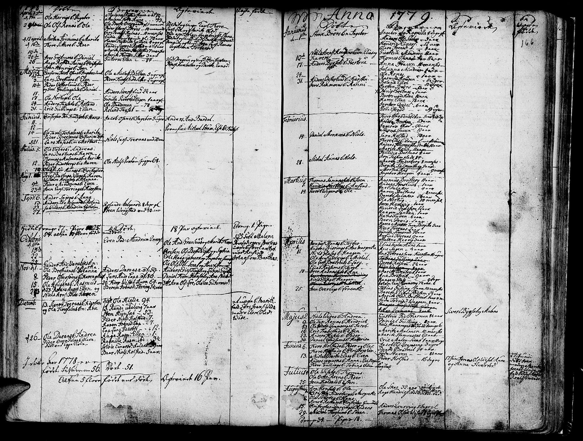 SAT, Ministerialprotokoller, klokkerbøker og fødselsregistre - Nord-Trøndelag, 741/L0385: Parish register (official) no. 741A01, 1722-1815, p. 166
