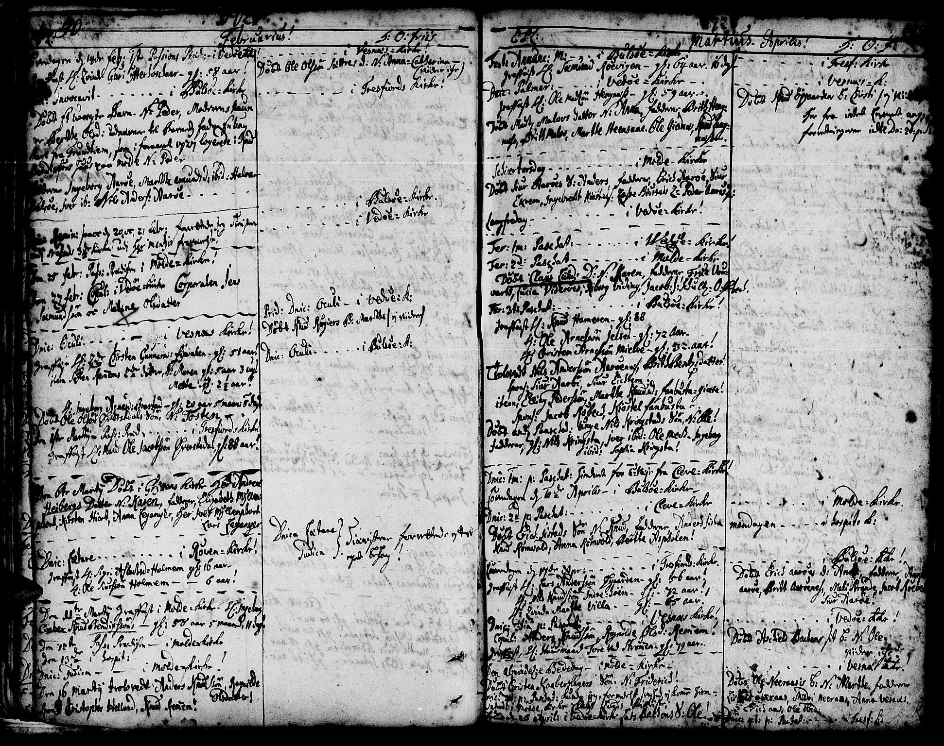 SAT, Ministerialprotokoller, klokkerbøker og fødselsregistre - Møre og Romsdal, 547/L0599: Parish register (official) no. 547A01, 1721-1764, p. 92-93