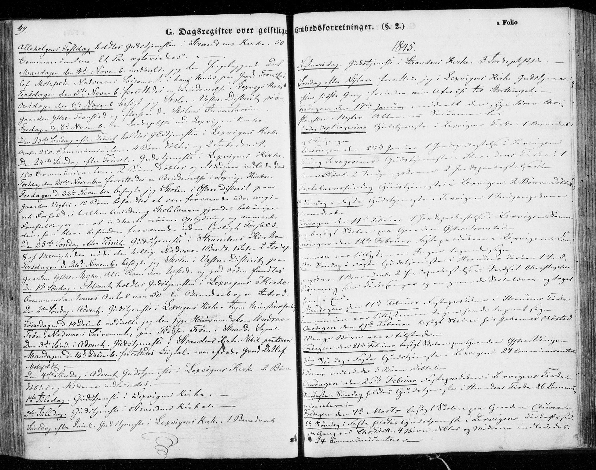 SAT, Ministerialprotokoller, klokkerbøker og fødselsregistre - Nord-Trøndelag, 701/L0007: Parish register (official) no. 701A07 /1, 1842-1854, p. 419