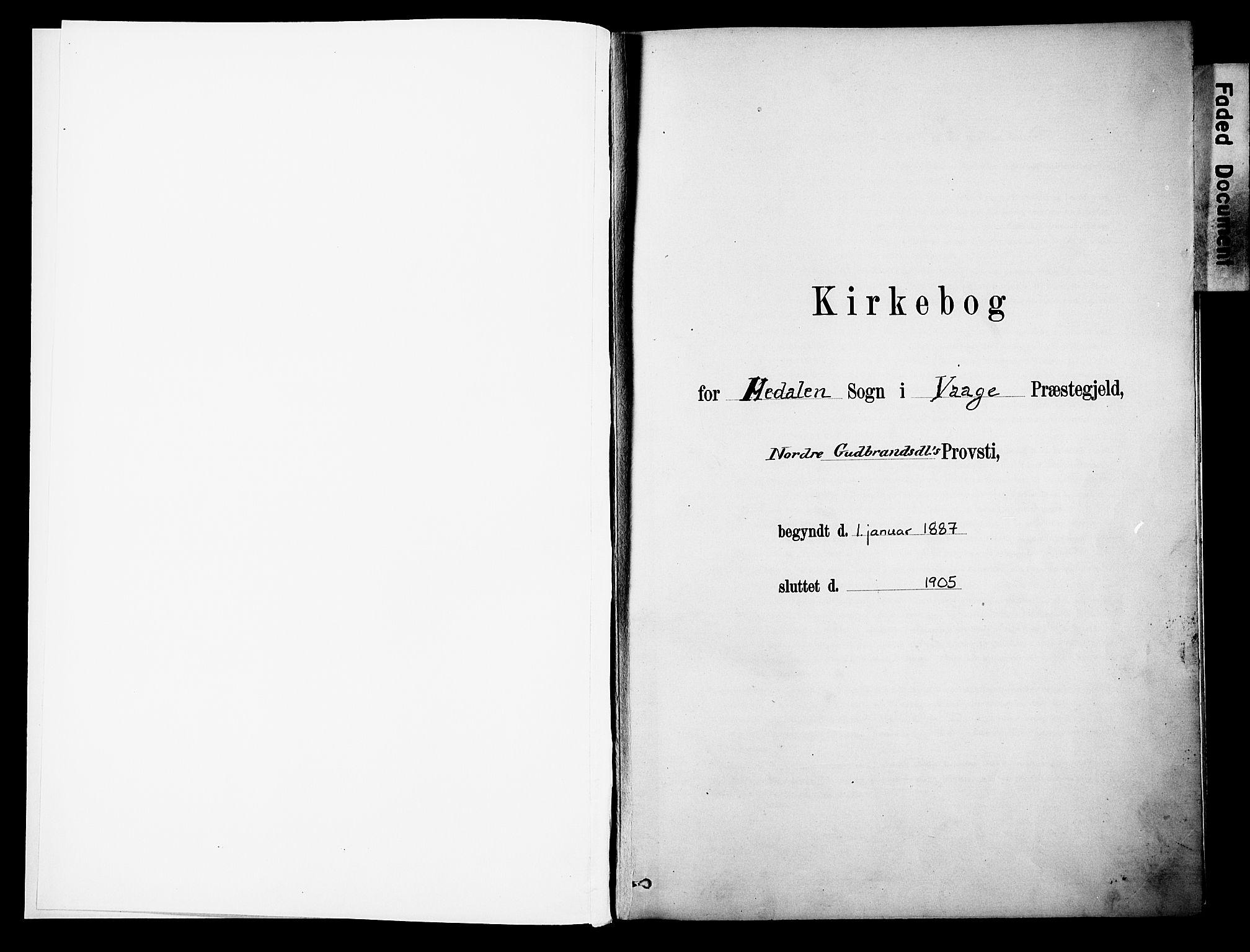 SAH, Vågå prestekontor, Parish register (official) no. 10, 1887-1904