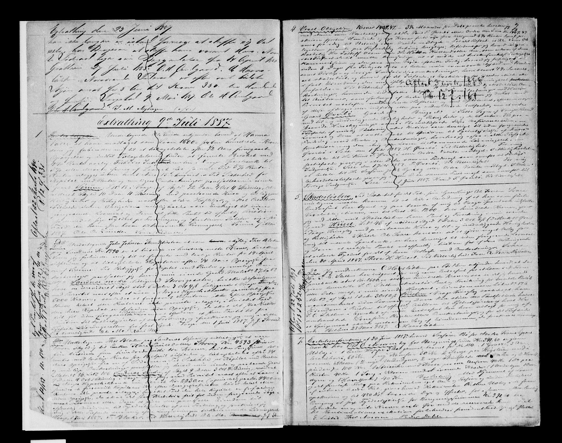 SAH, Nord-Gudbrandsdal tingrett, H/Hb/Hba/L0012: Mortgage book no. 12, 1887-1892, p. 2
