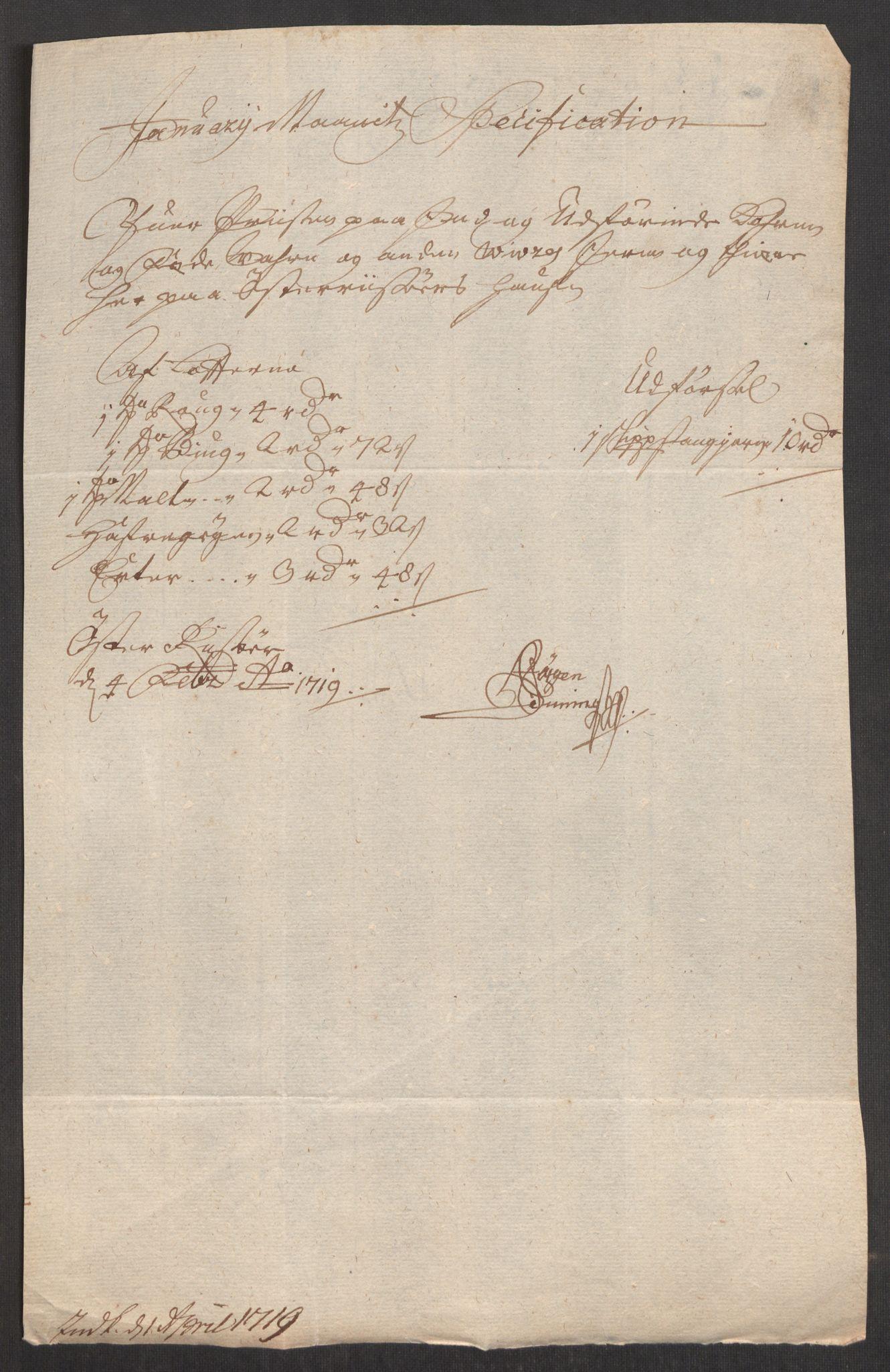 RA, Rentekammeret inntil 1814, Realistisk ordnet avdeling, Oe/L0001: [Ø1]: Priskuranter, 1712-1739, p. 132