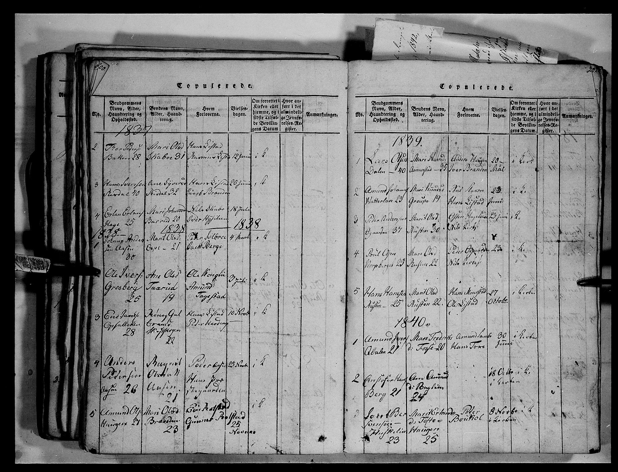 SAH, Fron prestekontor, H/Ha/Hab/L0003: Parish register (copy) no. 3, 1816-1850, p. 201