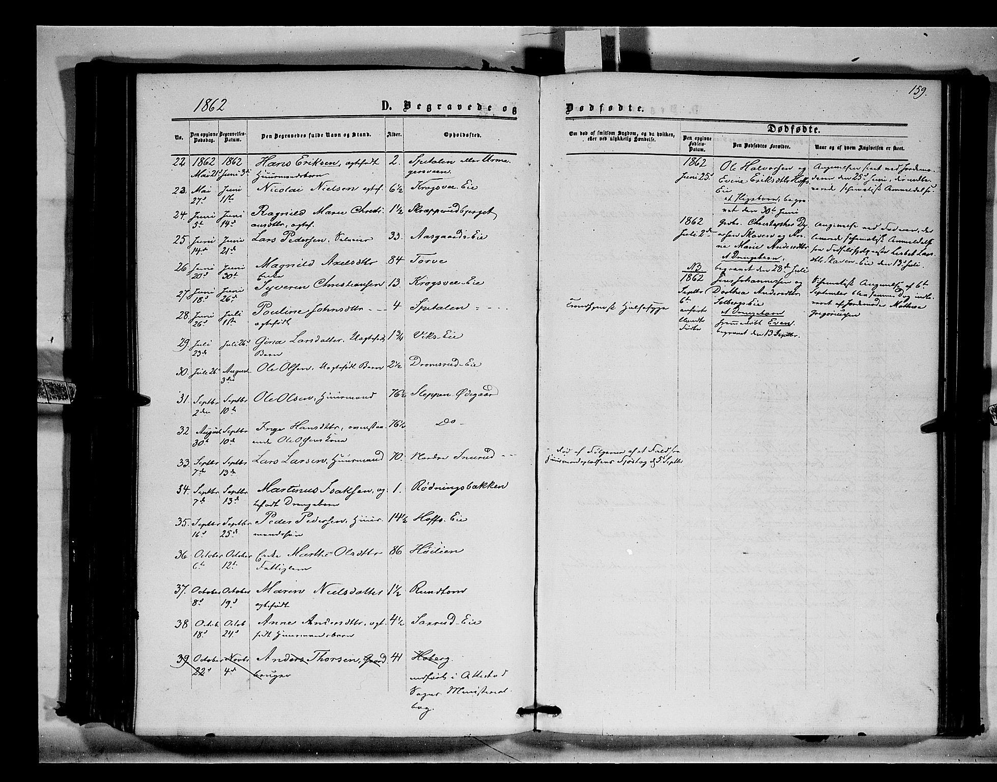 SAH, Stange prestekontor, K/L0014: Parish register (official) no. 14, 1862-1879, p. 159