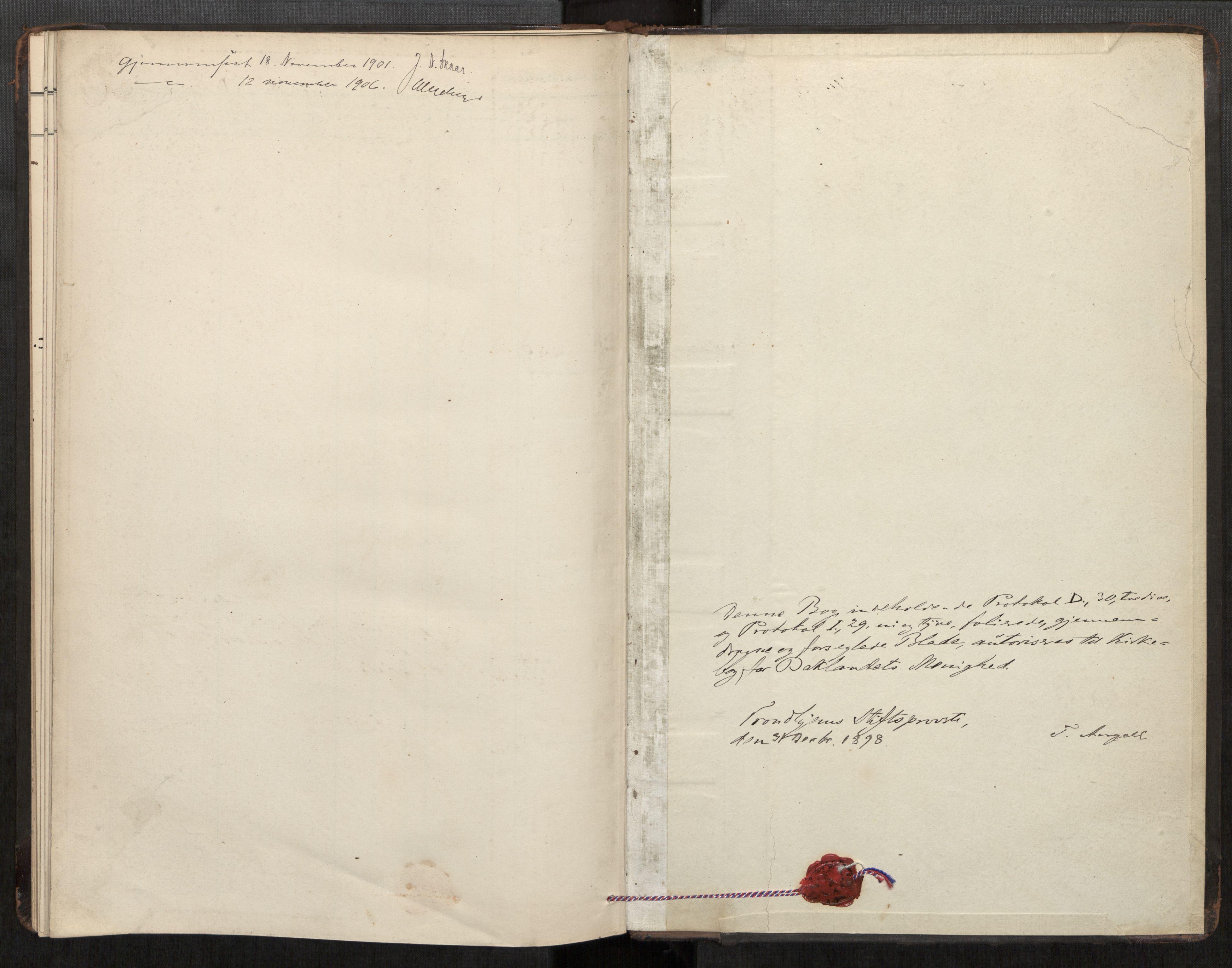 SAT, Bakklandet sokneprestkontor, Parish register (official) no. 604A31, 1899-1920