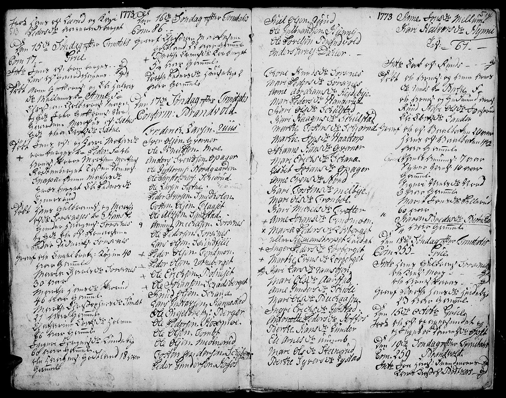 SAH, Grue prestekontor, Parish register (official) no. 2, 1749-1774, p. 513-514