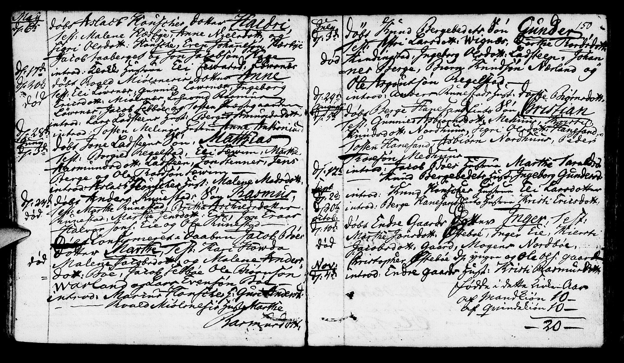 SAST, Finnøy sokneprestkontor, H/Ha/Haa/L0005: Parish register (official) no. A 5, 1773-1816, p. 150