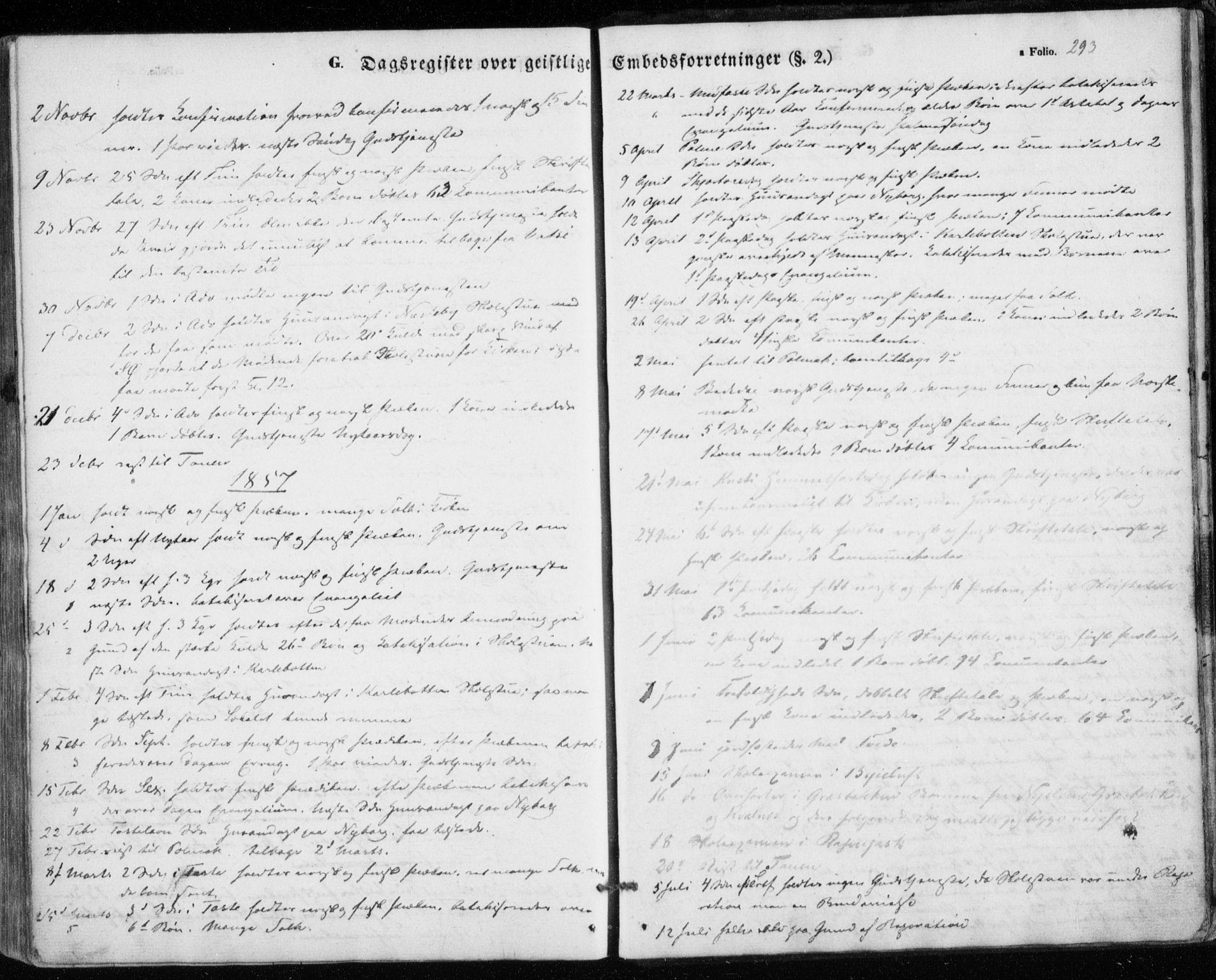 SATØ, Nesseby sokneprestkontor, H/Ha/L0002kirke: Parish register (official) no. 2, 1856-1864, p. 293